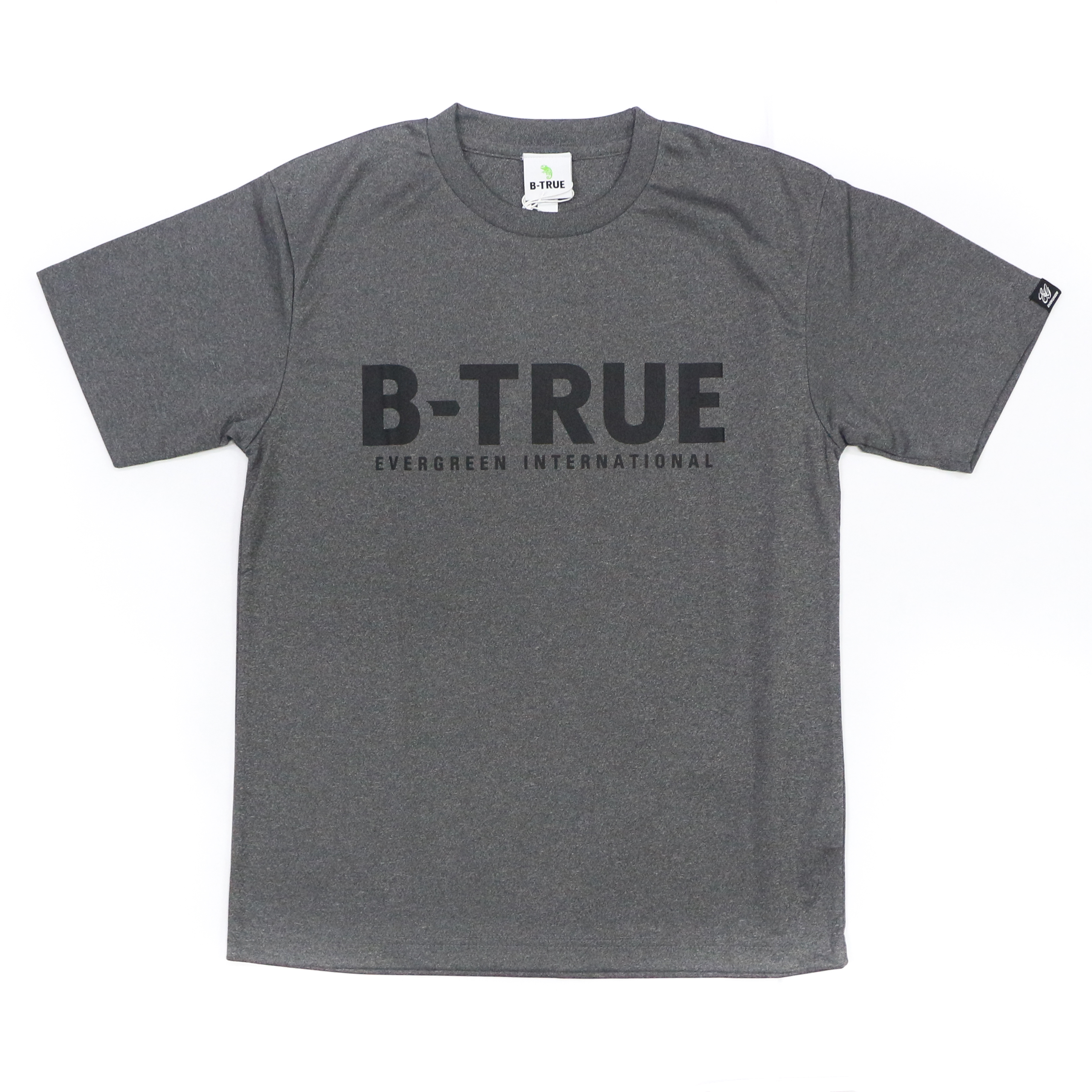 Evergreen T-Shirt Dry Fit Short Sleeve B-True A Type Size S Gray (7695)