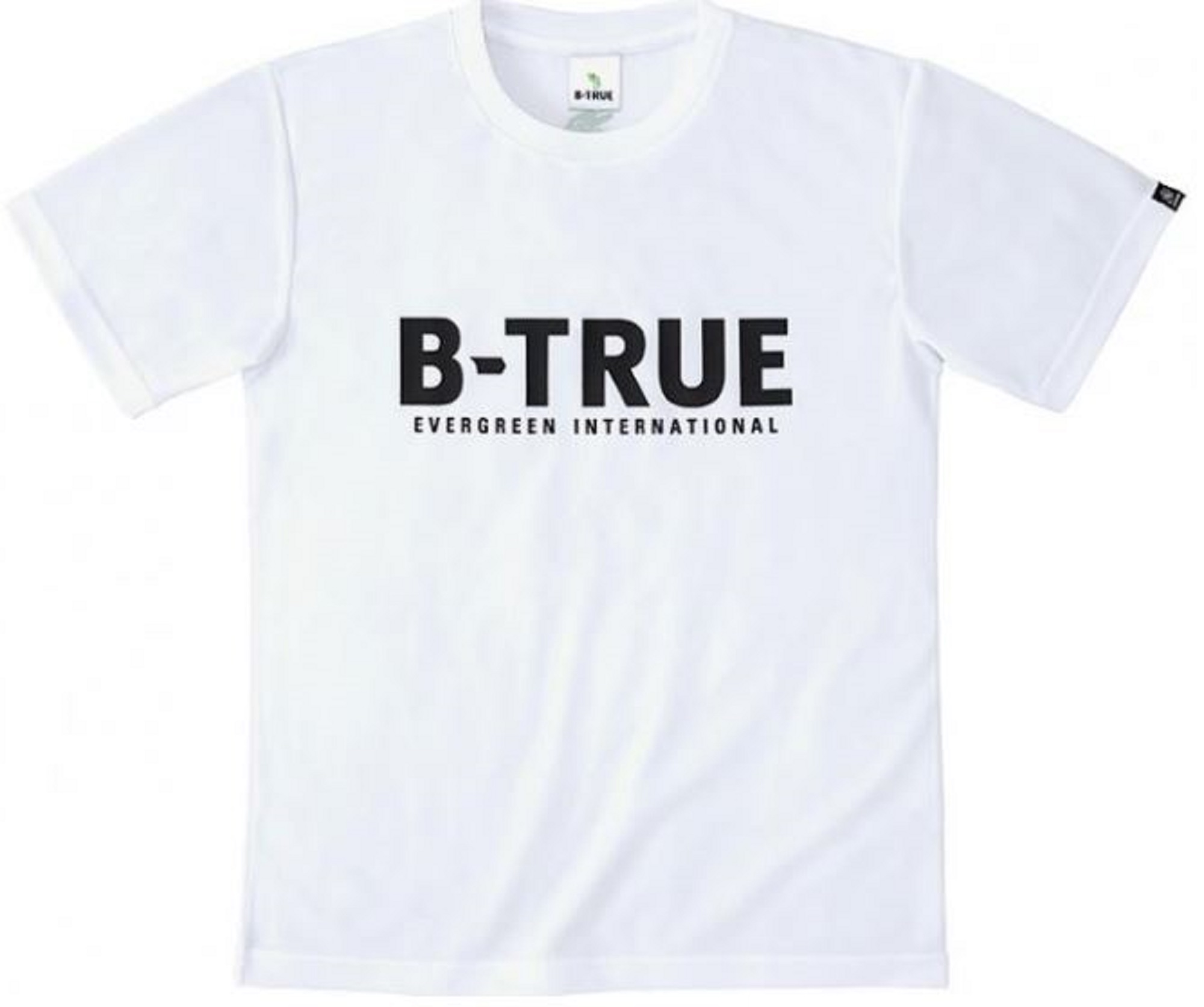 Evergreen T-Shirt Dry Fit Short Sleeve B-True A Type Size LL White (7770)