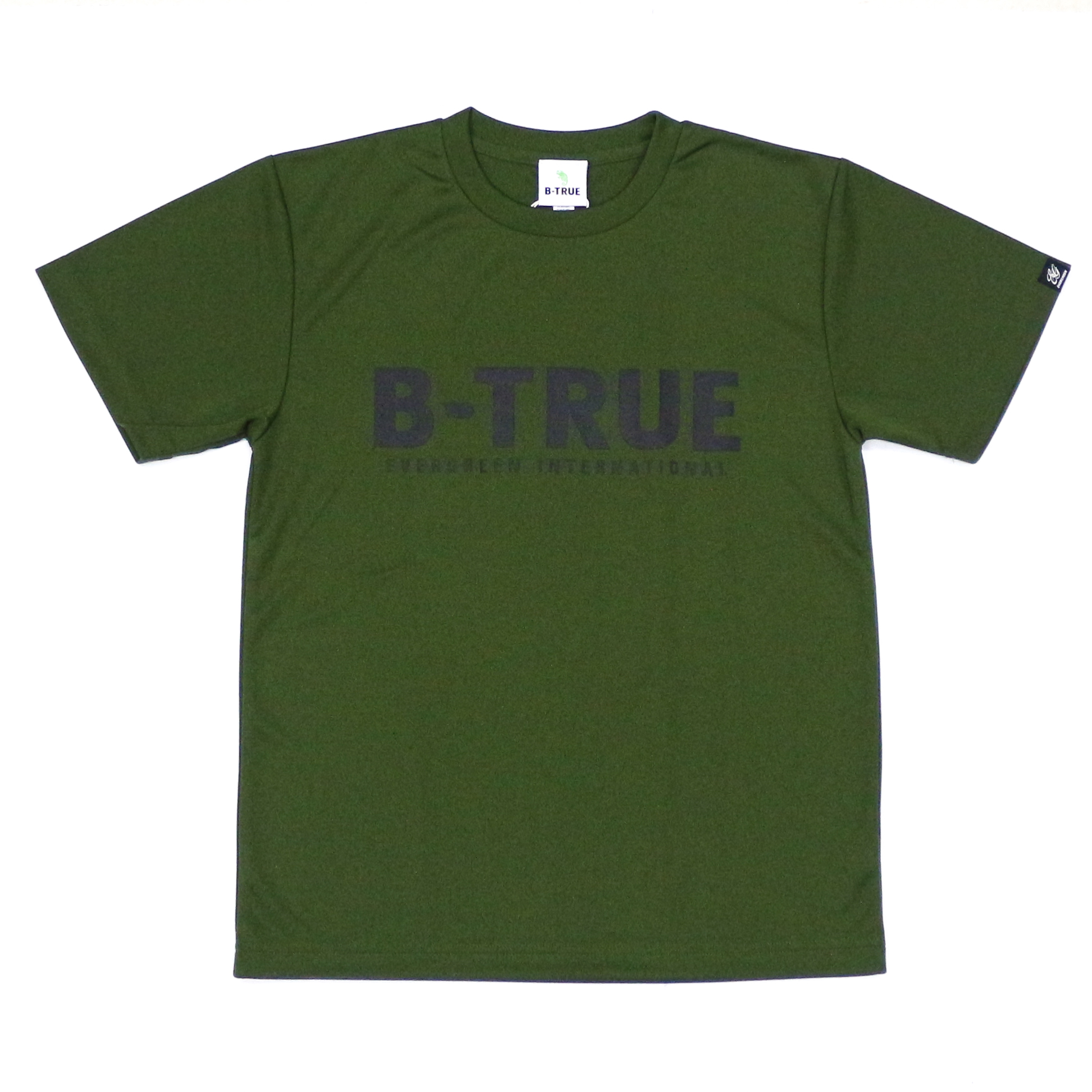 Evergreen T-Shirt Dry Fit Short Sleeve B-True A Type Size S Olive (6550)