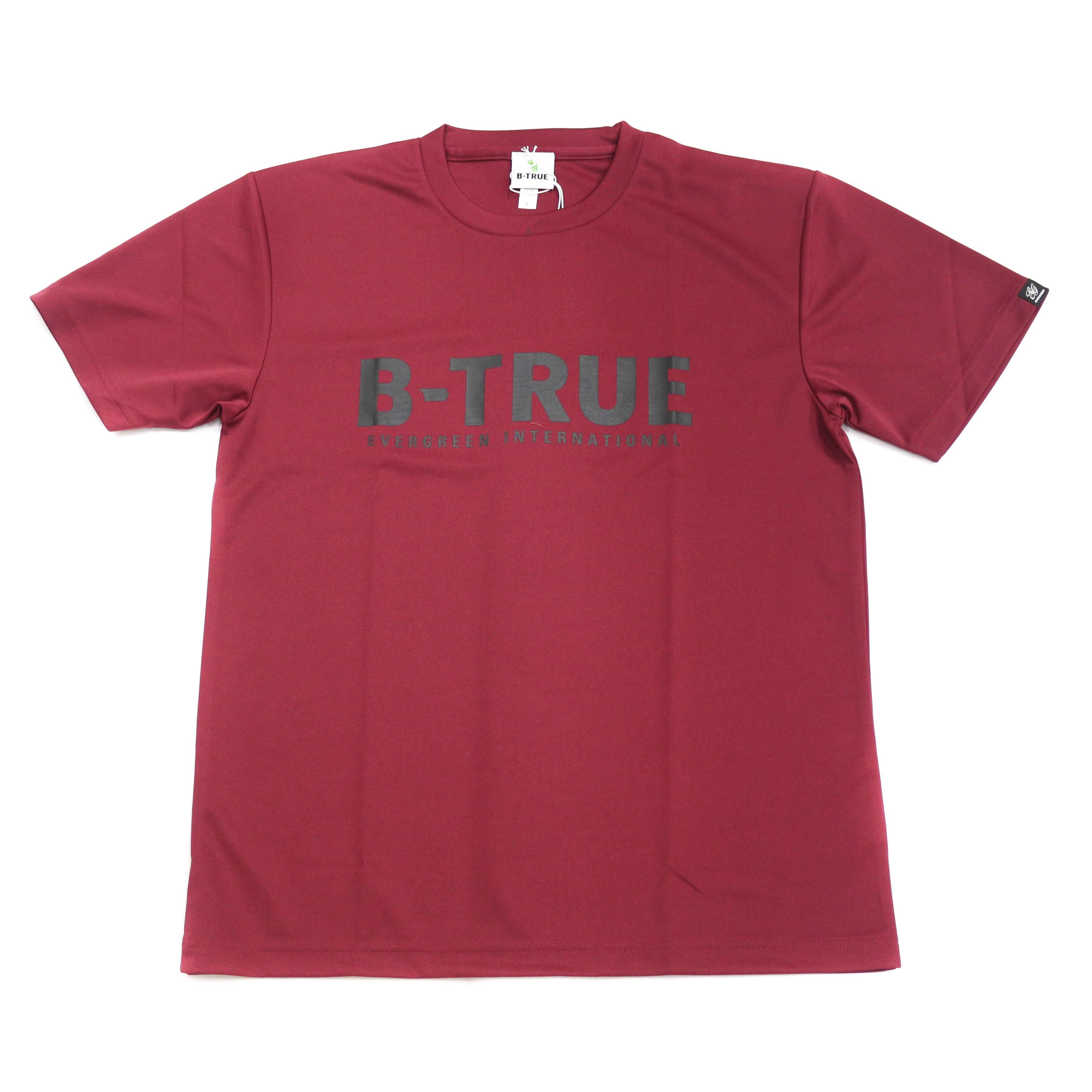 Evergreen T-Shirt Dry Fit Short Sleeve B-True A Type Size L Burgundy (6604)