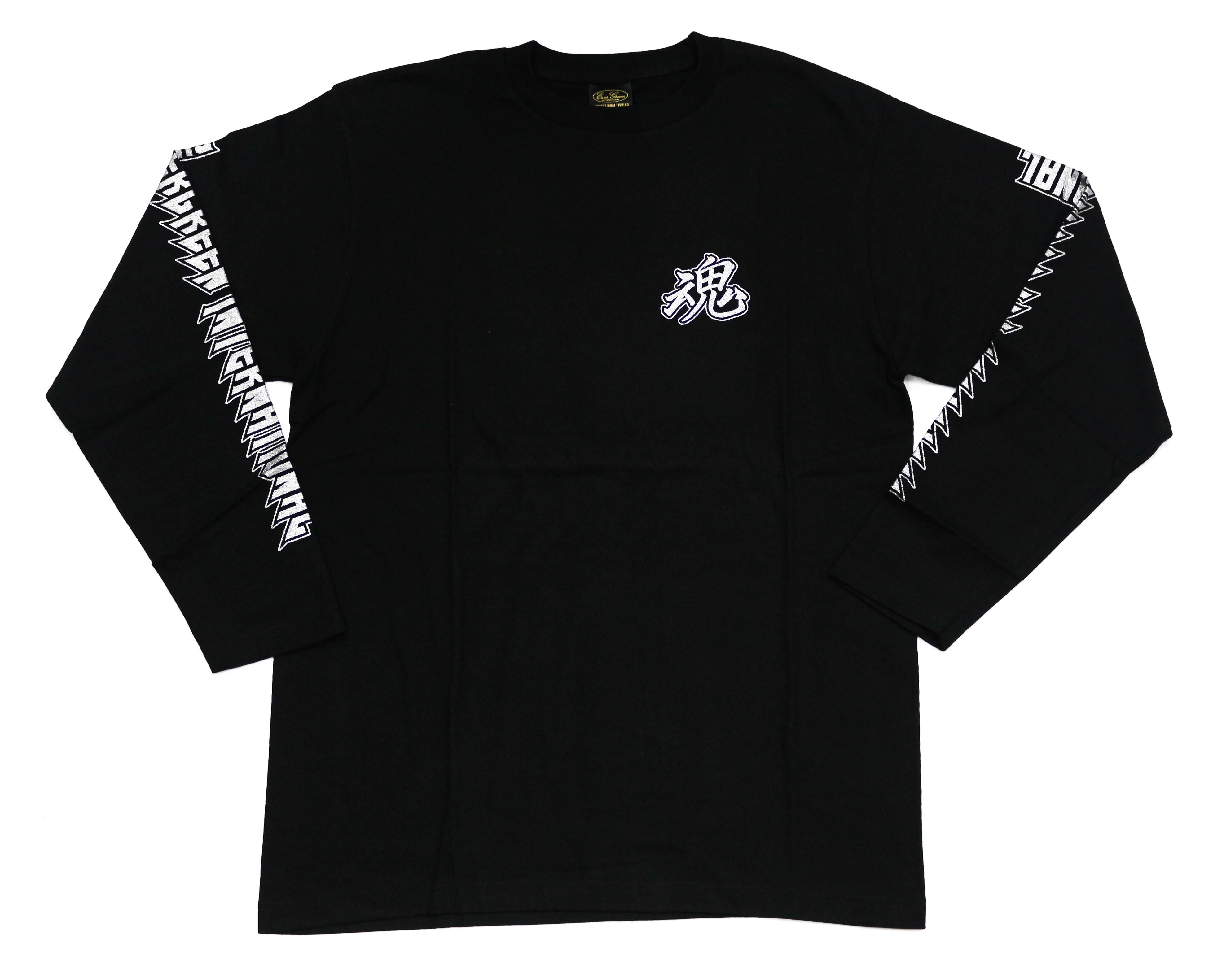 Evergreen T-Shirt Long Sleeve Metal Soul A Type Size L Black (7618)