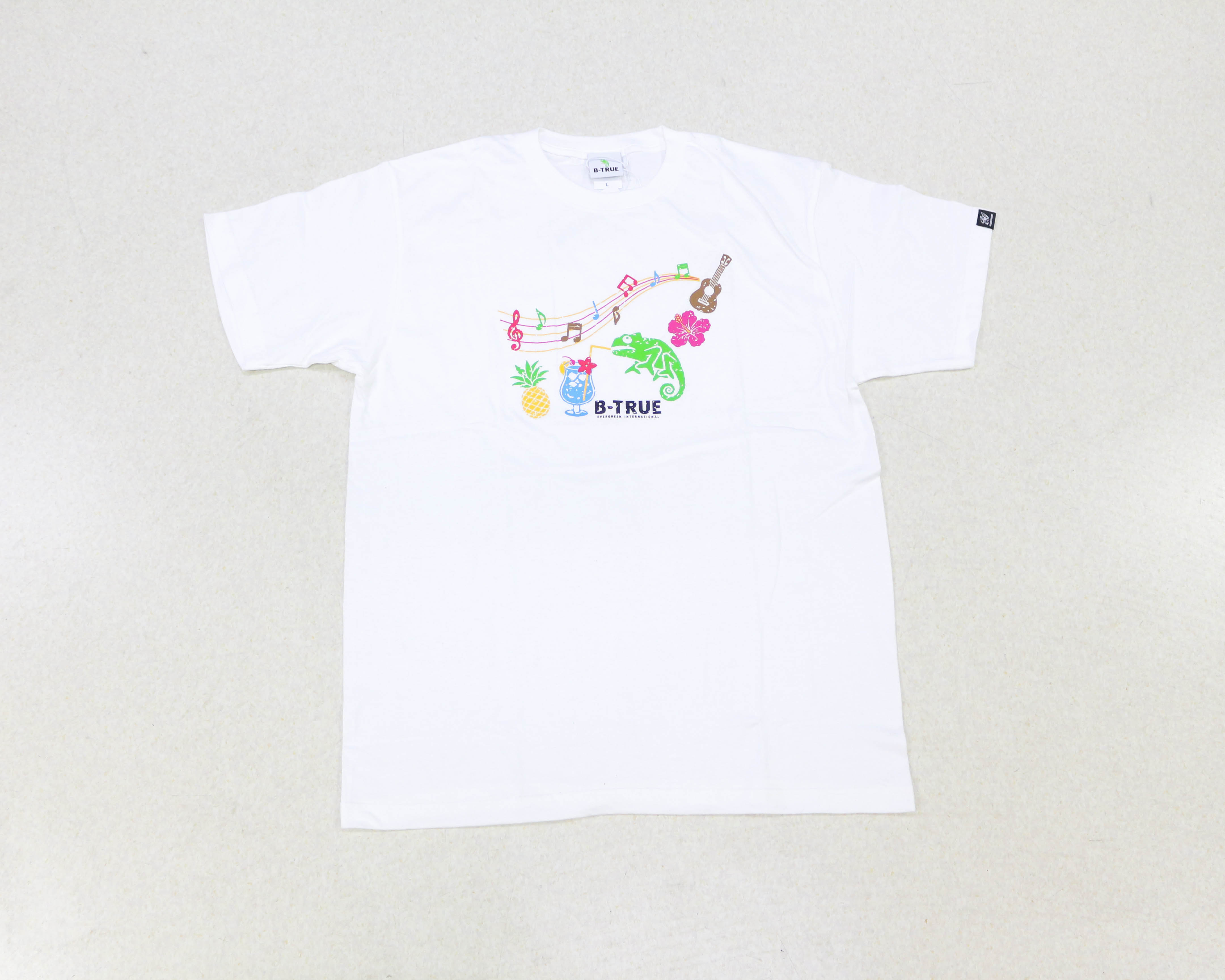 Sale Evergreen T-Shirt Short Sleeve Type 1 Size SS White (0564)