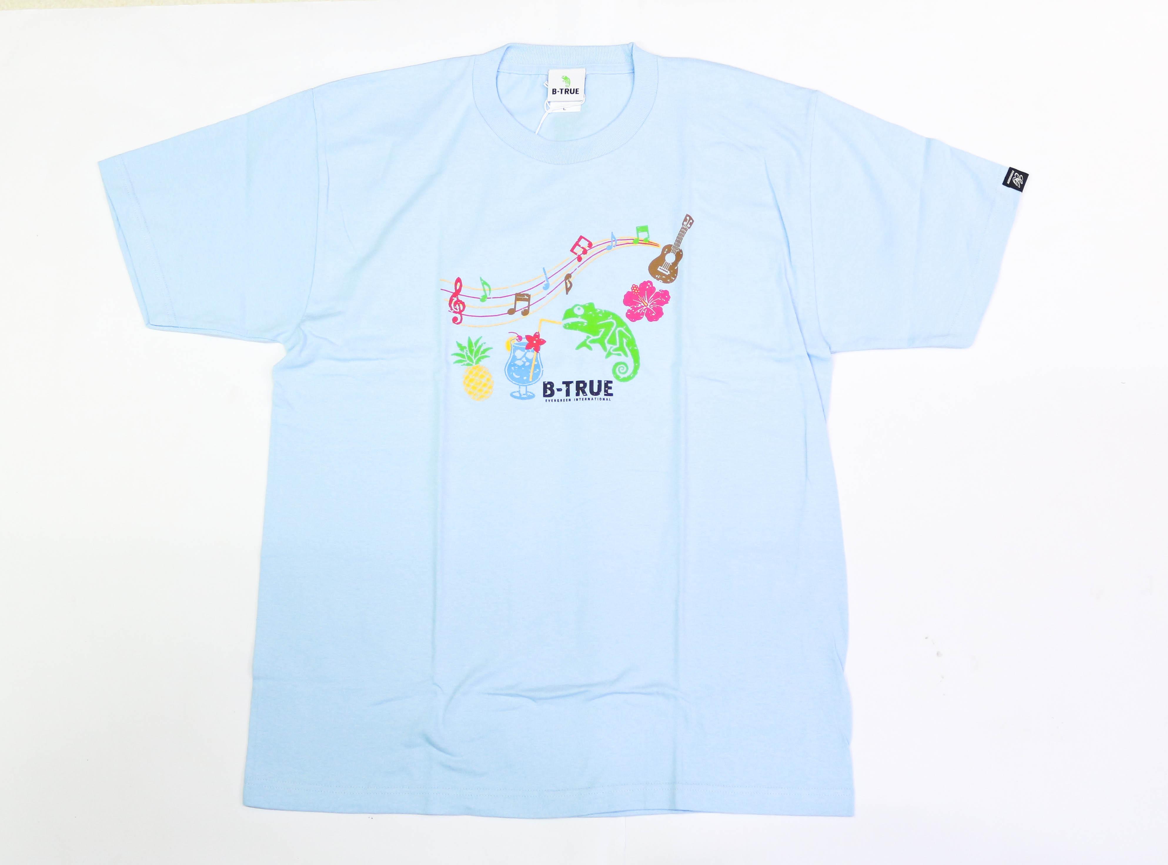 Sale Evergreen T-Shirt Short Sleeve Type 1 Size S Blue (0649)