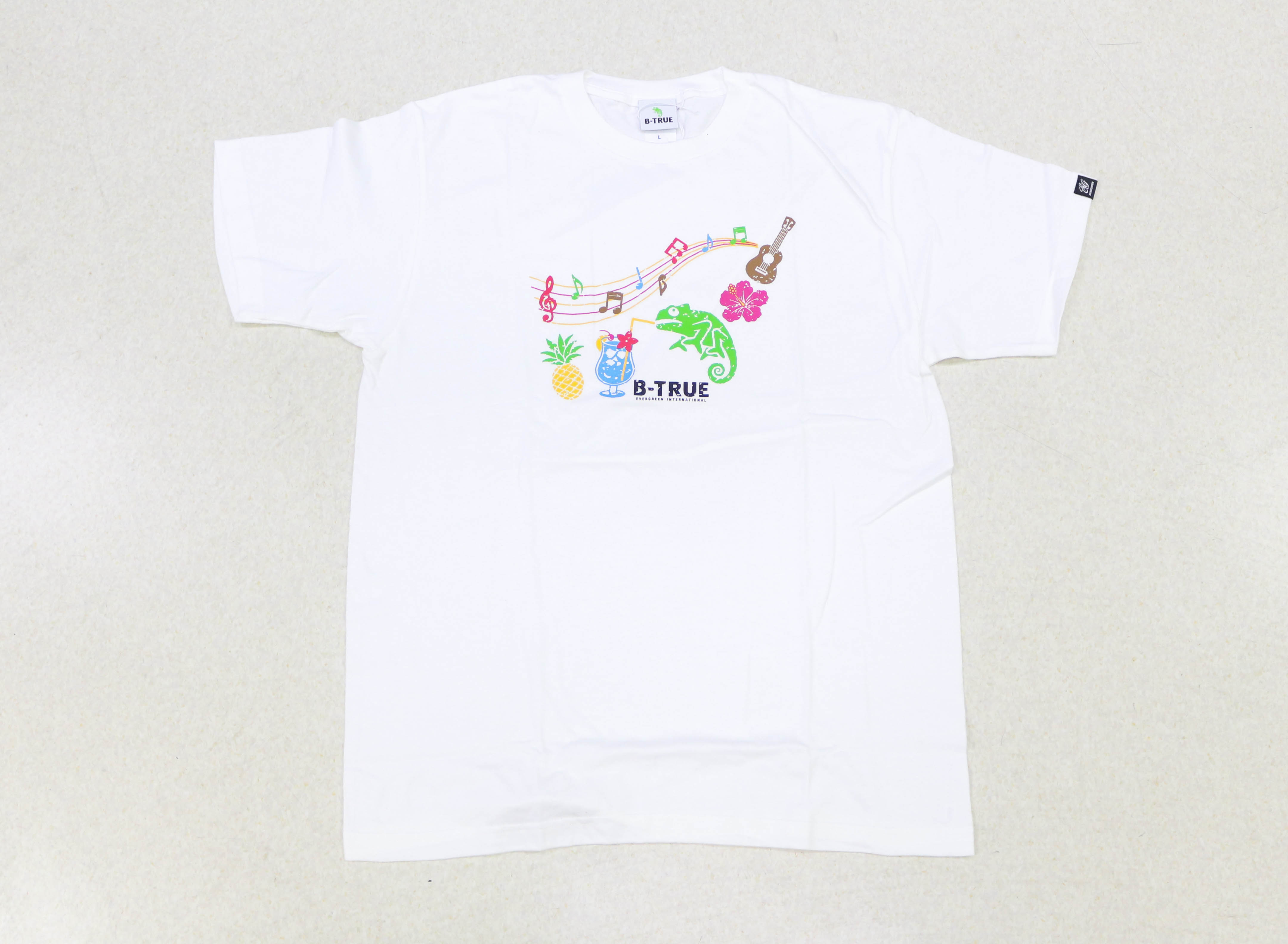 Evergreen T-Shirt Short Sleeve Type 1 Size L White (0748)