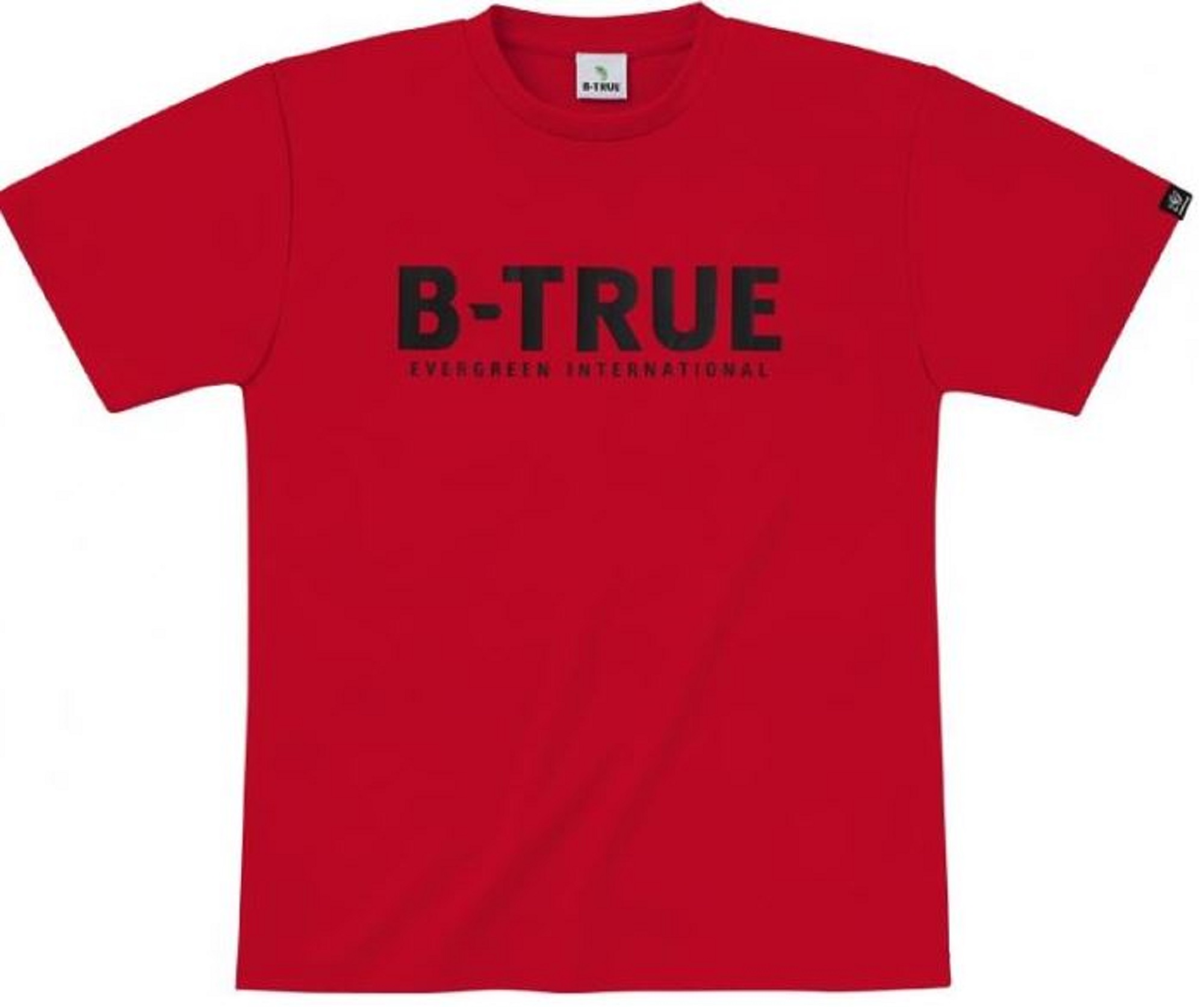 Evergreen T-Shirt Dry Fit Short Sleeve B-True A Type Size L Red (4753)