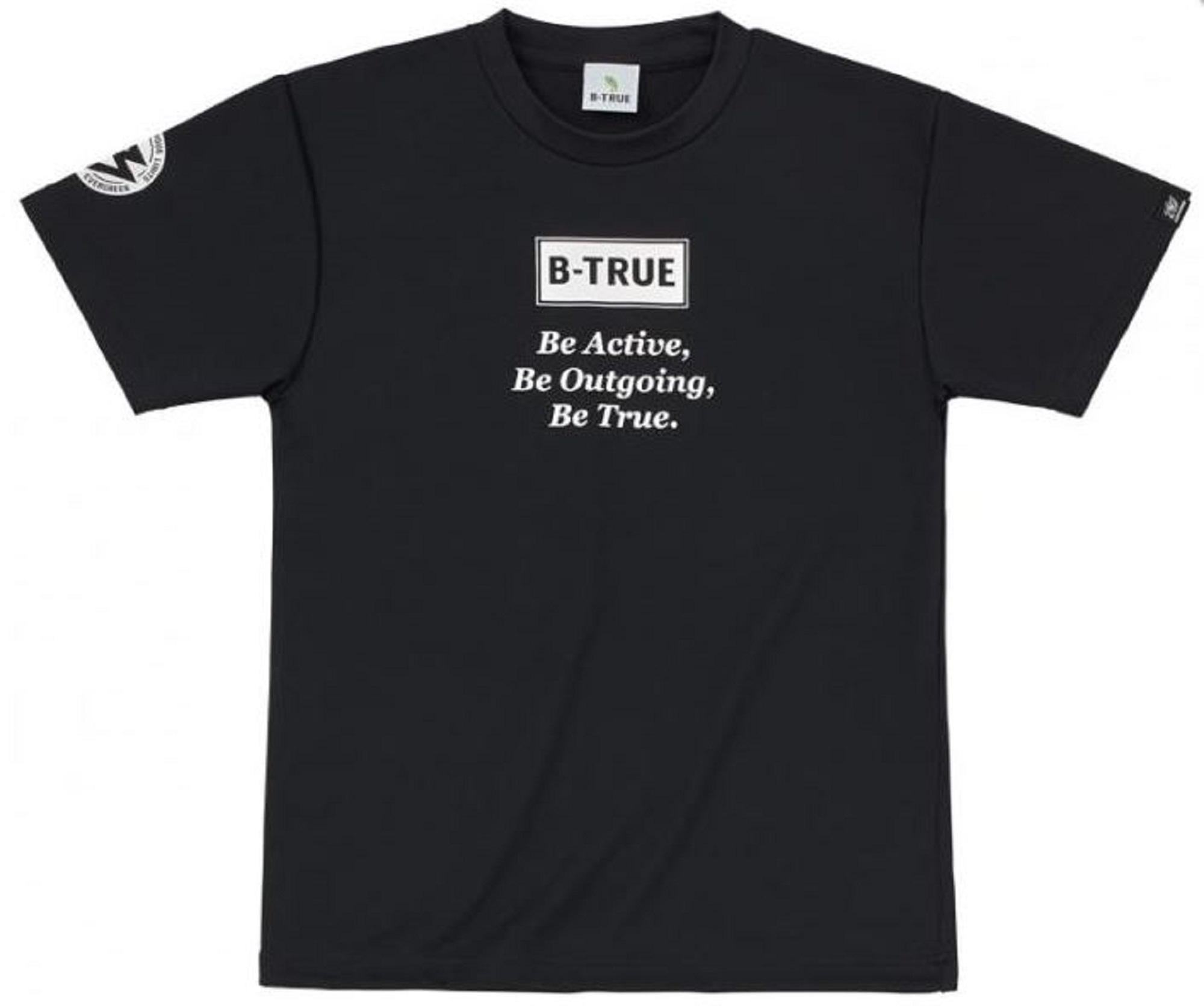 Evergreen T-Shirt Dry Fit Short Sleeve B-True D Type Size S Black (4784)