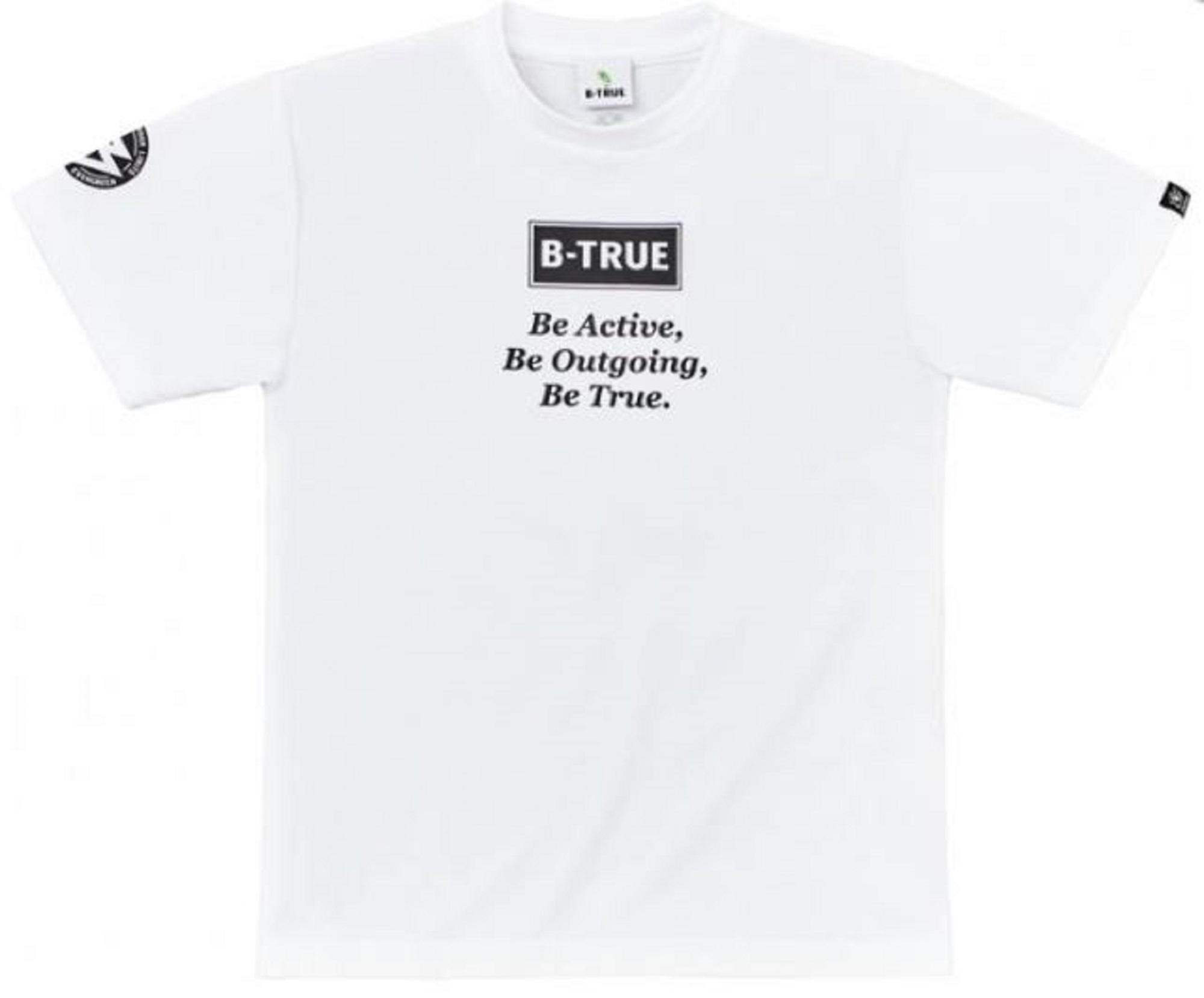 Evergreen T-Shirt Dry Fit Short Sleeve B-True D Type Size M White (4838)