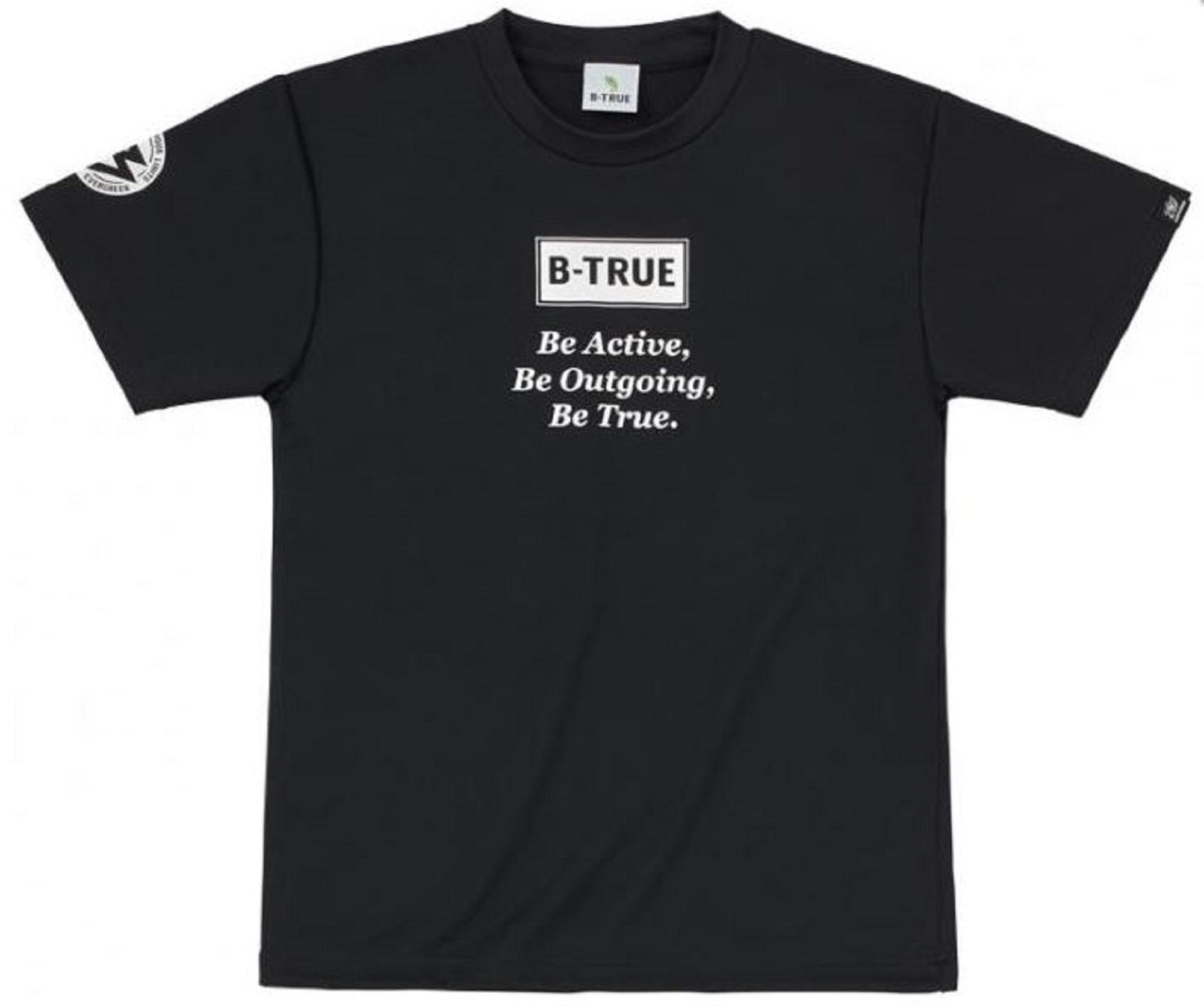 Evergreen T-Shirt Dry Fit Short Sleeve B-True D Type Size L Black (4852)