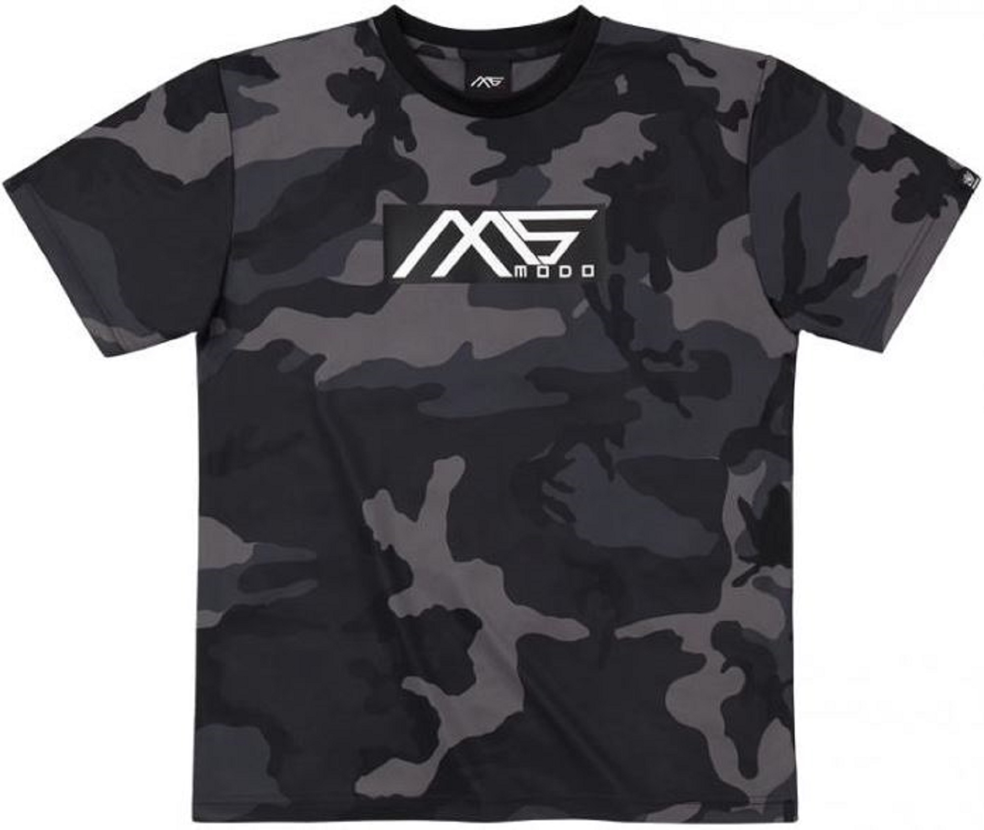 Evergreen T-Shirt Dry Fit Short Sleeve MS-modo Size S Black Camou (6276)
