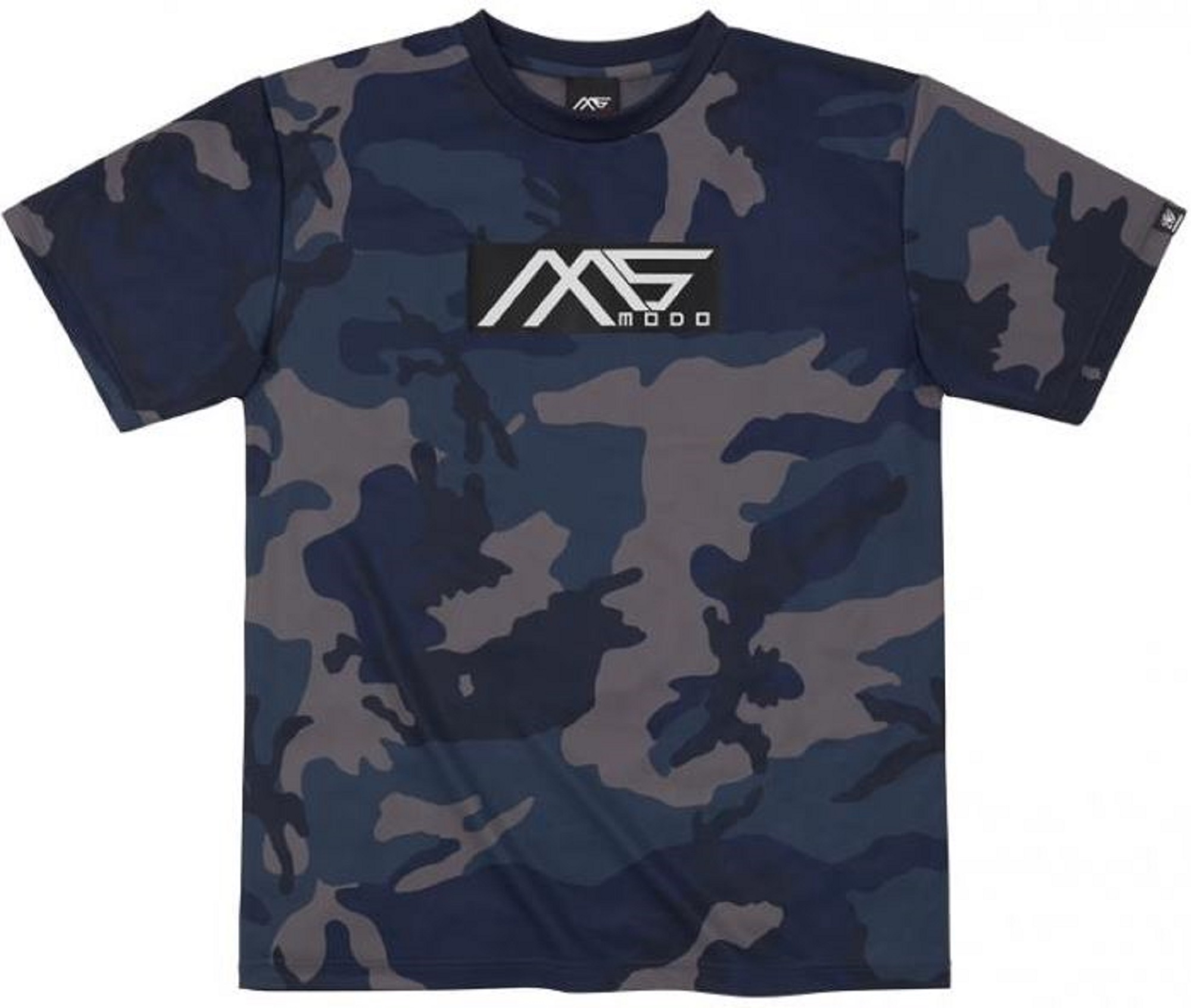 Evergreen T-Shirt Dry Fit Short Sleeve MS-modo Size S Navy Camou (6283)