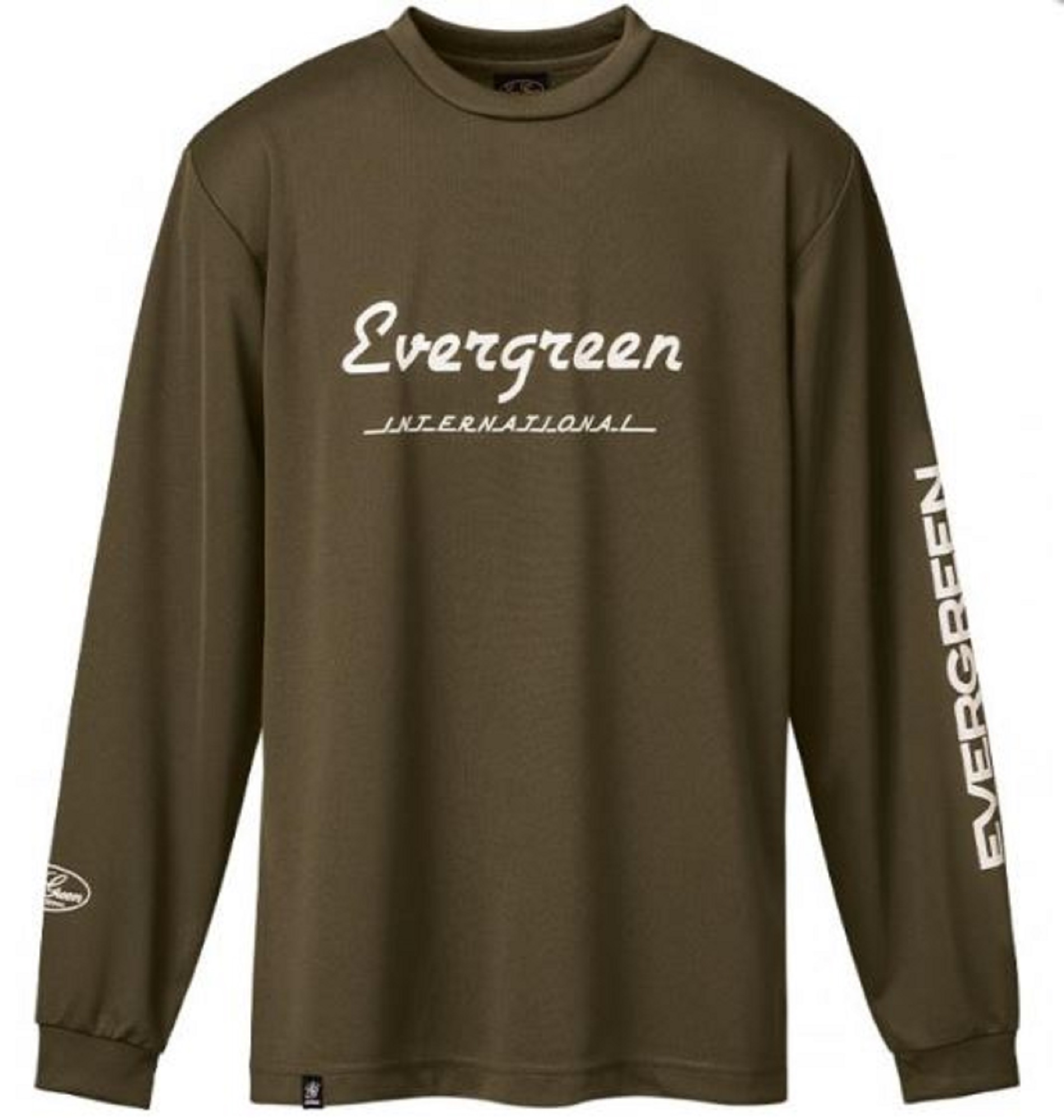 Evergreen T-Shirt Dry Fit Long Sleeve F Type Size M Army (0037)