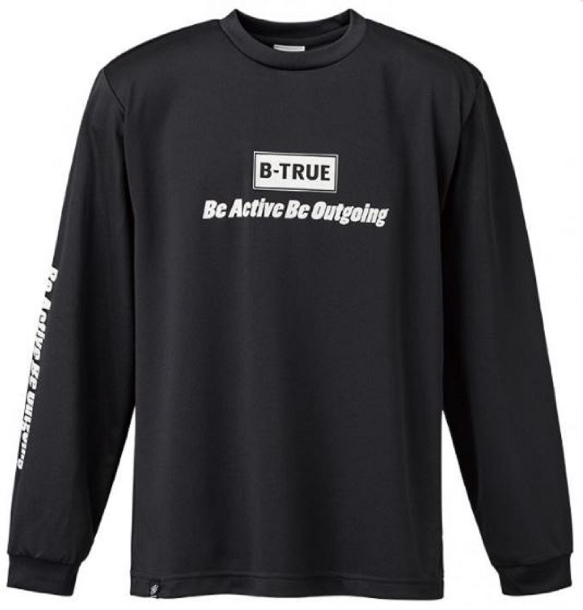 Evergreen T-Shirt Dry Fit Long Sleeve B-True B Type Size S Black (0136)