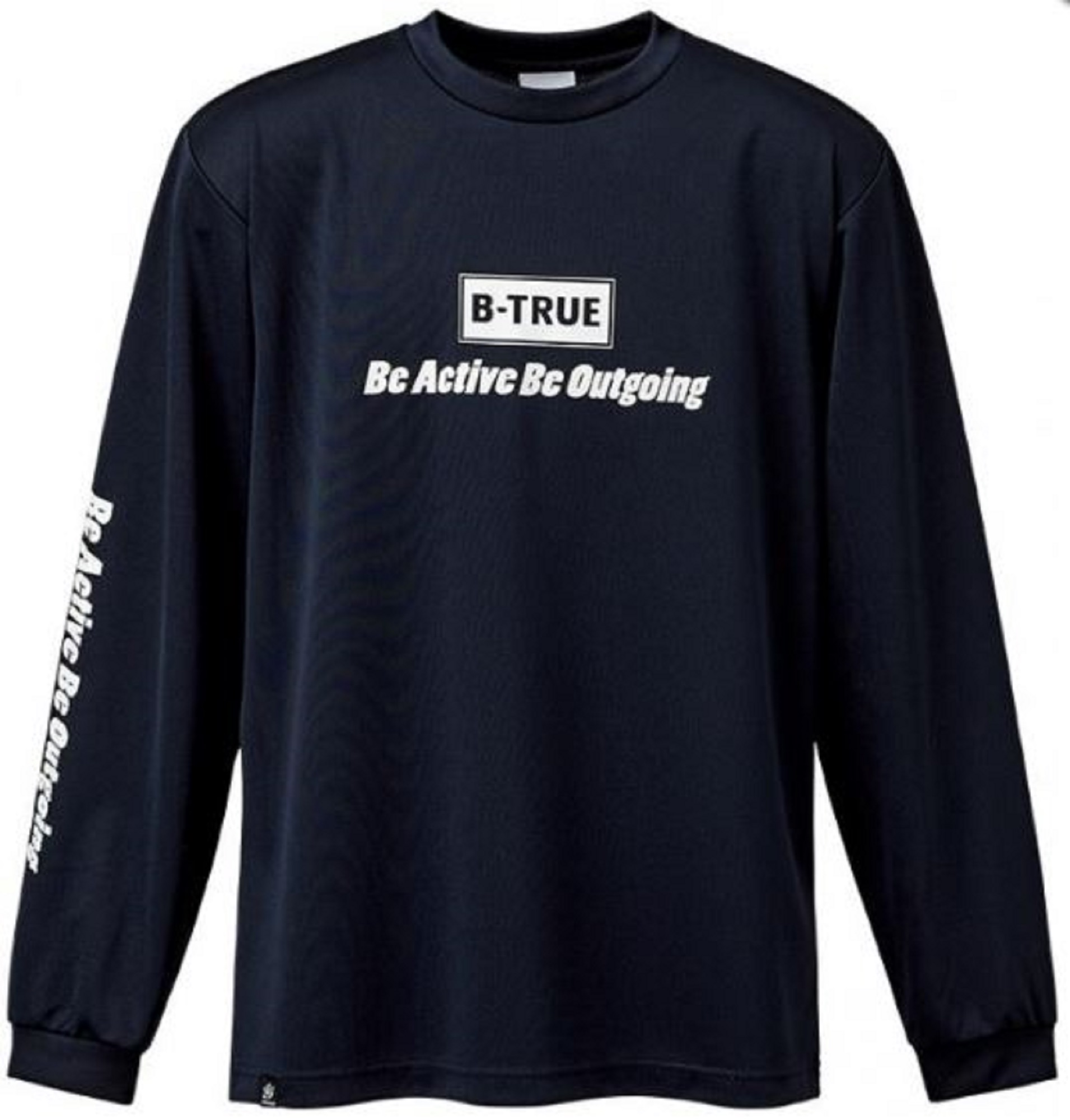 Evergreen T-Shirt Dry Fit Long Sleeve B-True B Type Size L Navy (0211)