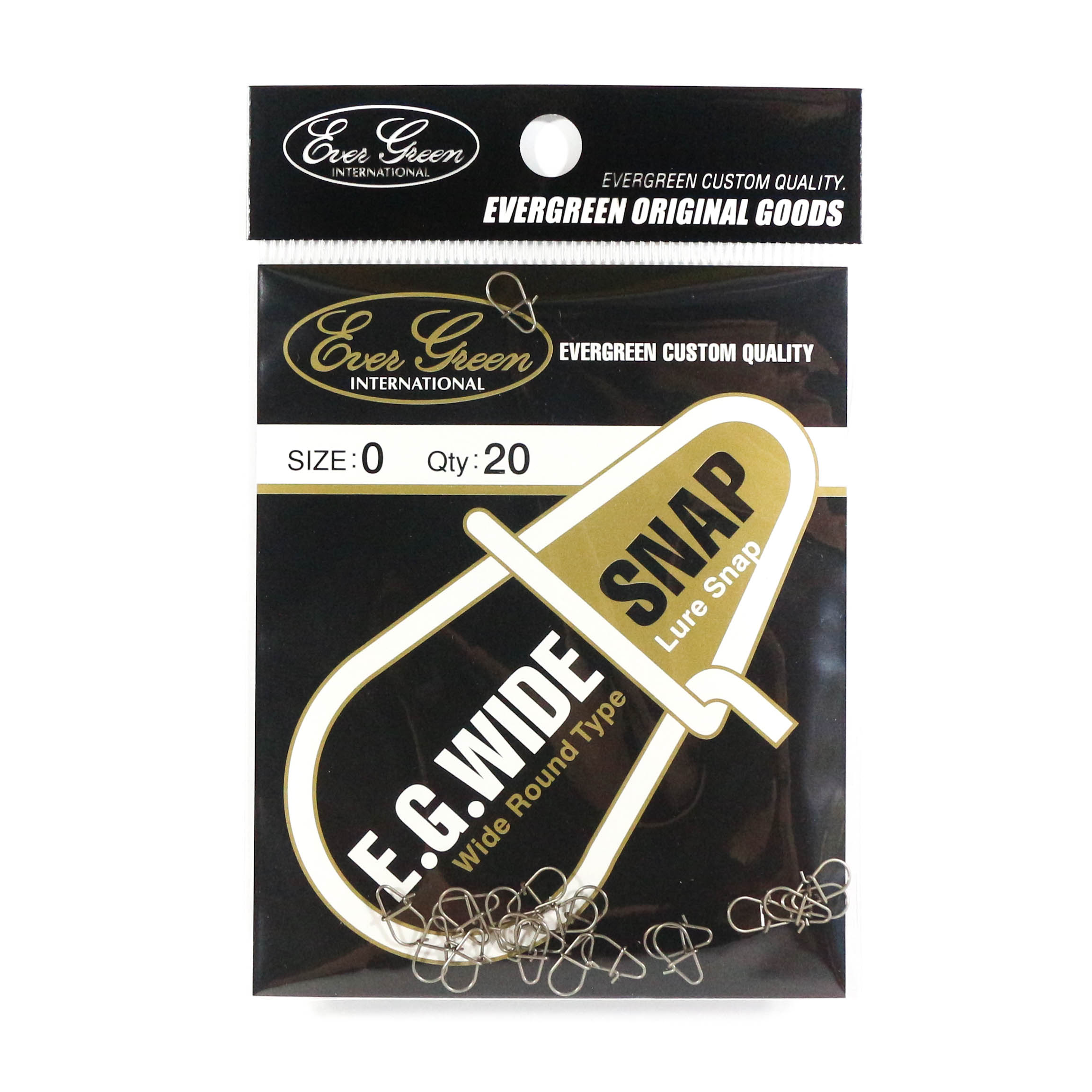 Evergreen Lure Wide Snap Size 0 (Extra Small) (8004)