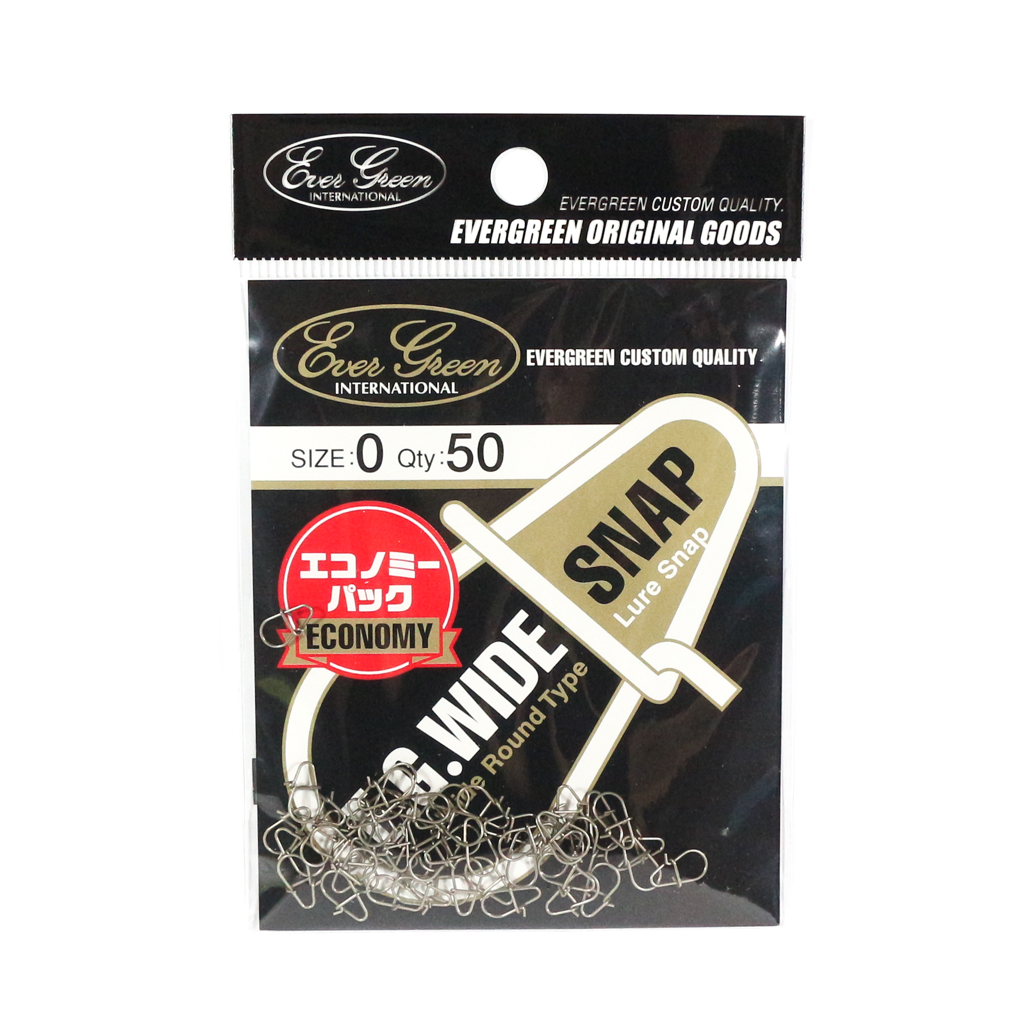 Evergreen Lure Wide Snap Bulk Pack Size 0 (Smallest) (8128)