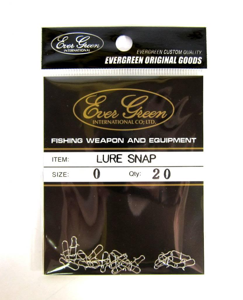Evergreen Lure Snap Size 0 (Small) (0735)