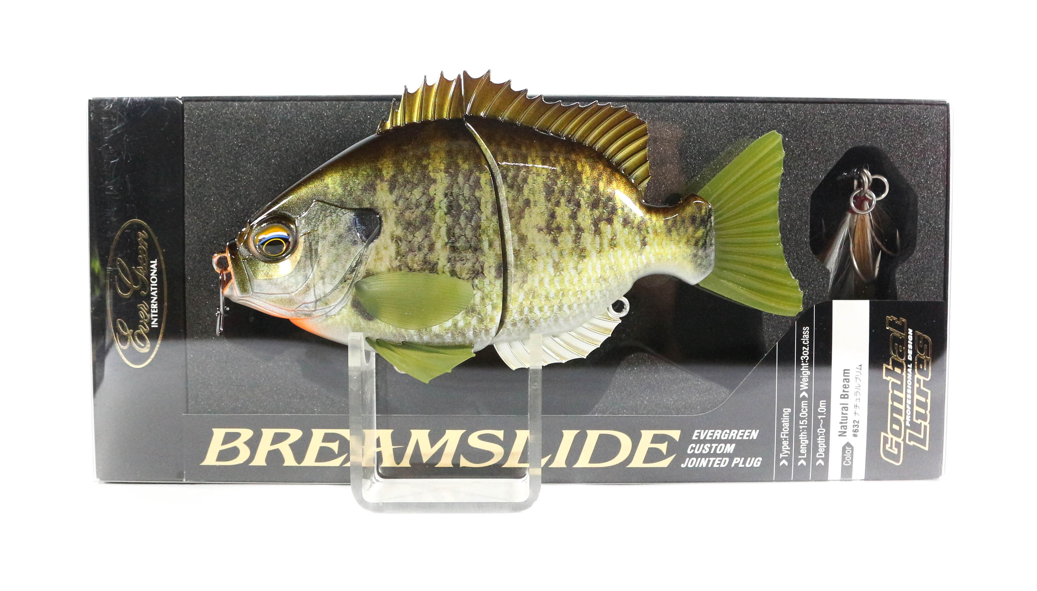 Evergreen Bream Slide Flat Side Jointed Lipless Floating Lure 632 (5967)