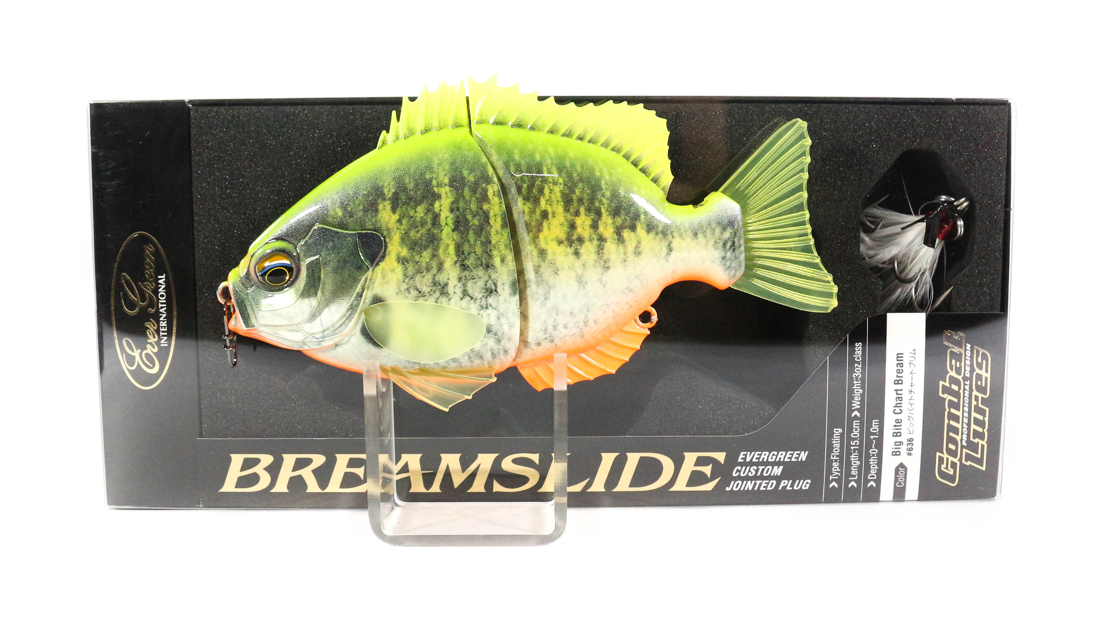 Evergreen Bream Slide Flat Side Jointed Lipless Floating Lure 636 (6001)