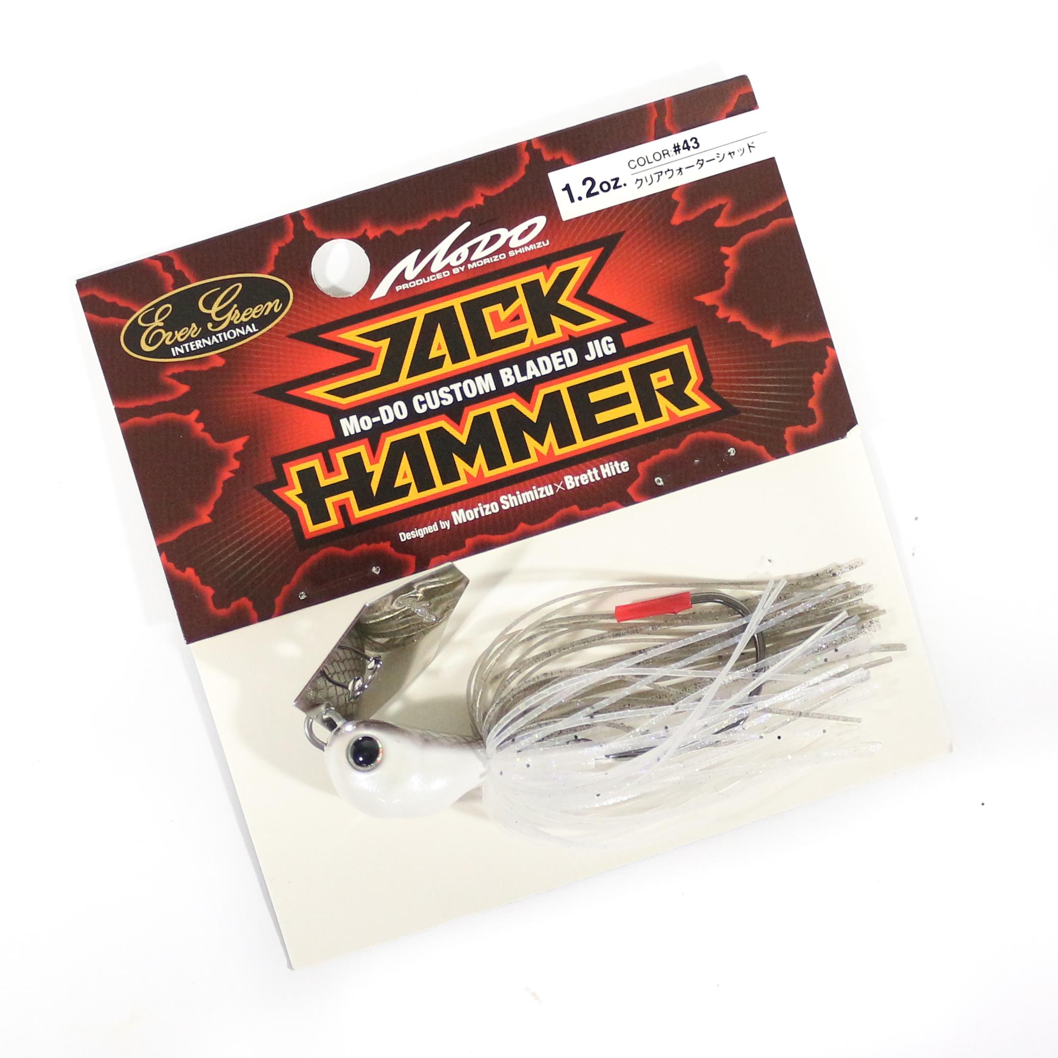 Evergreen Jackhammer Bladed Jig 1.2 oz Sinking Lure 43 (4501)