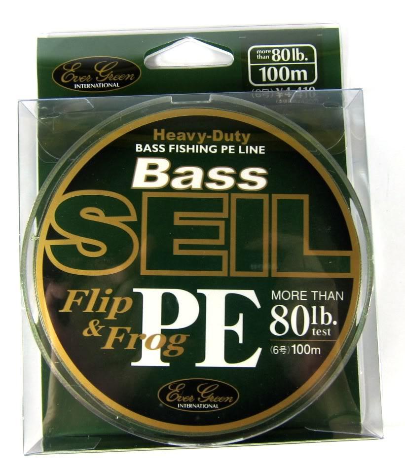 Evergreen P.E Line Bass Seil Flip & Frog Heavy Duty 100m 80lb (5295)