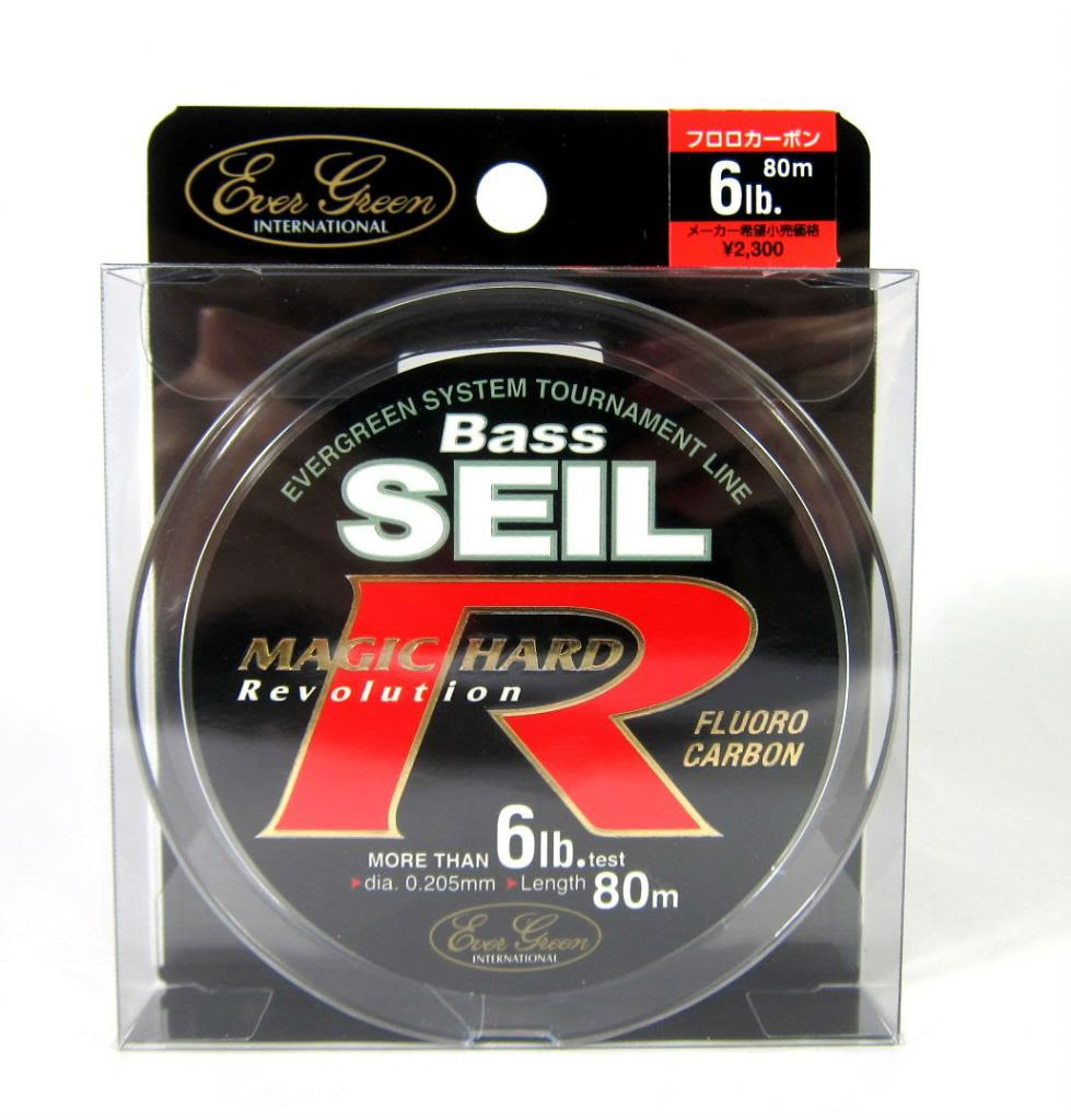 Evergreen Fluorocarbon Line Bass Seil Magic Hard R 80m 12lb (7748)