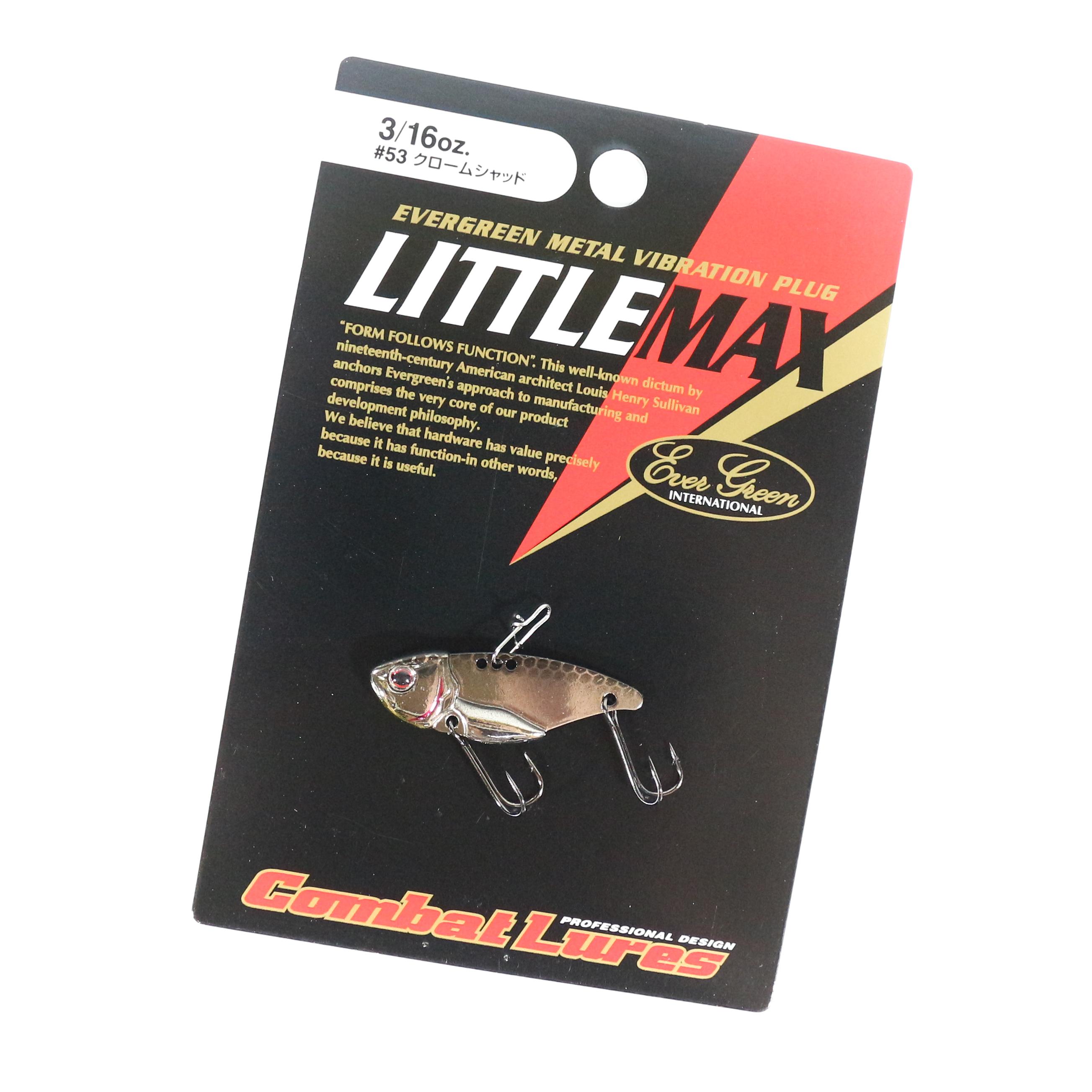 Evergreen Little Max Metal Vibration 1//4 oz Sinking Lure 230 7893