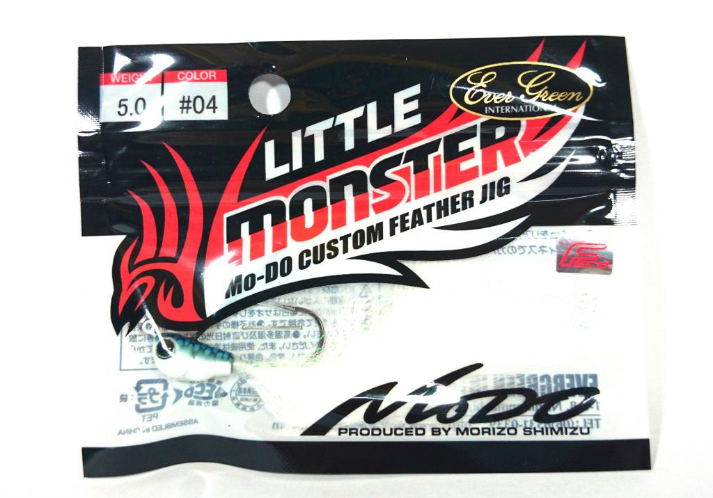 Evergreen Little Monster Modo Feather Jig Head 3.5 grams 04 (9428)
