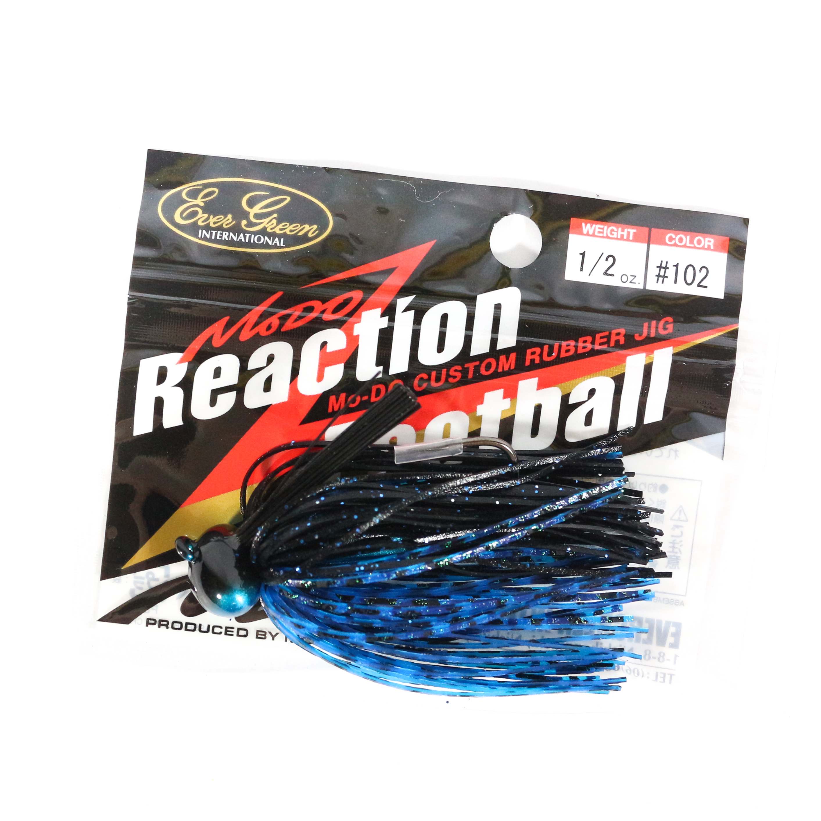 Evergreen Reaction Football Casting Jig 1/2 oz 102 (2323)