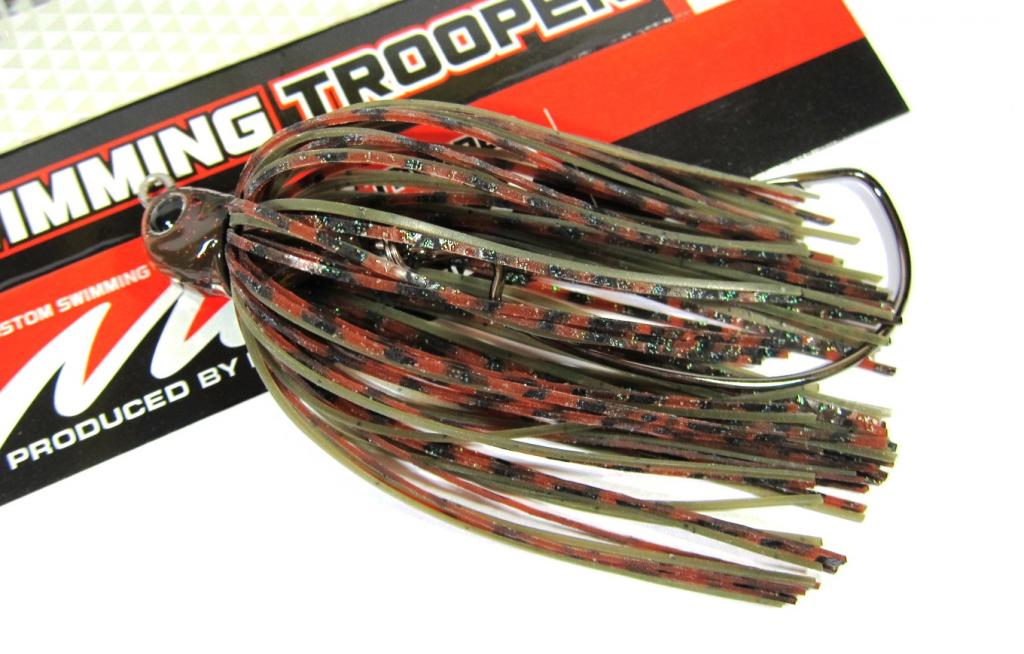 Evergreen Swimming Trooper Rubber Jig 1/4 oz Sinking Lure 28 (9626)