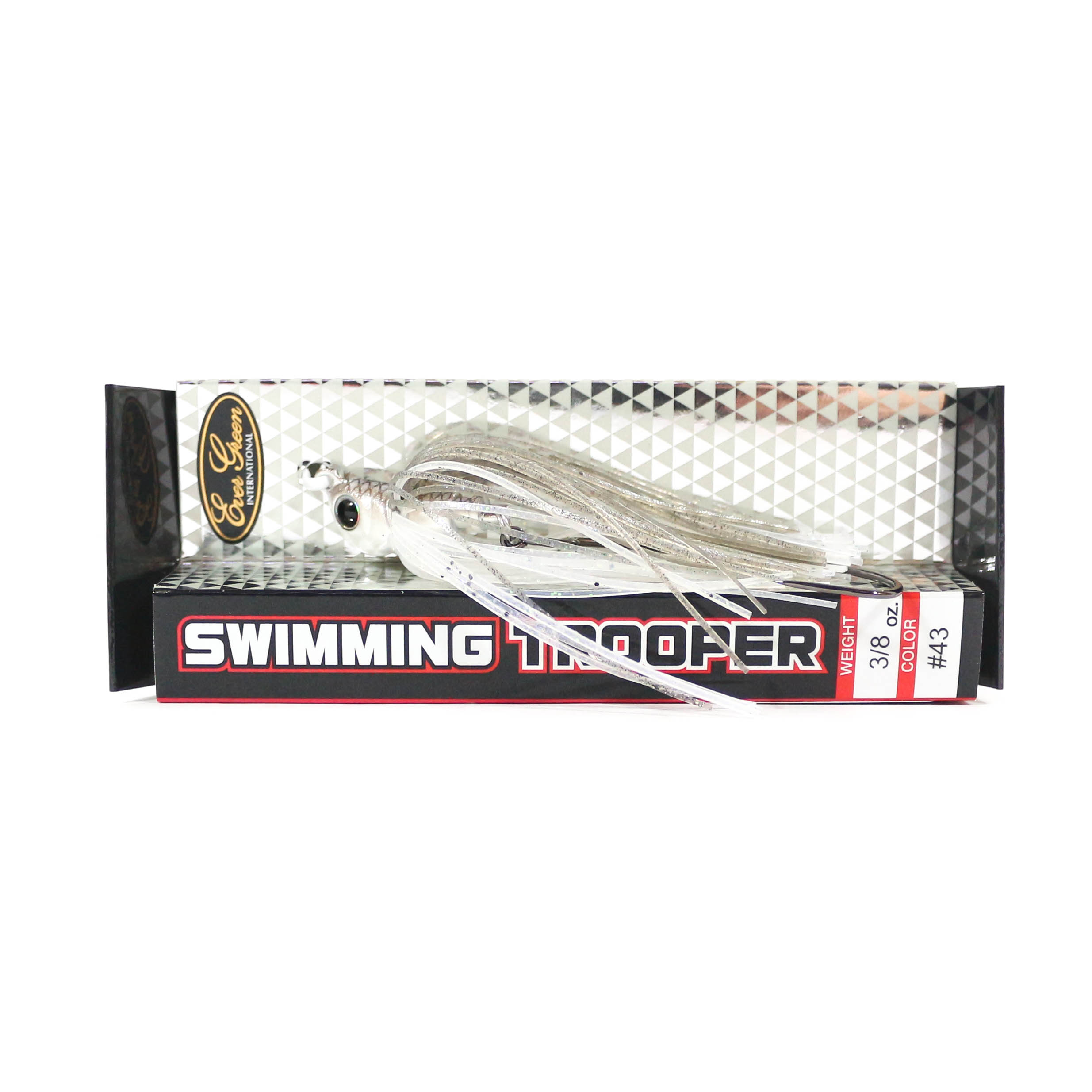Evergreen Swimming Trooper Rubber Jig 3/8 oz Sinking Lure 43 (7052)