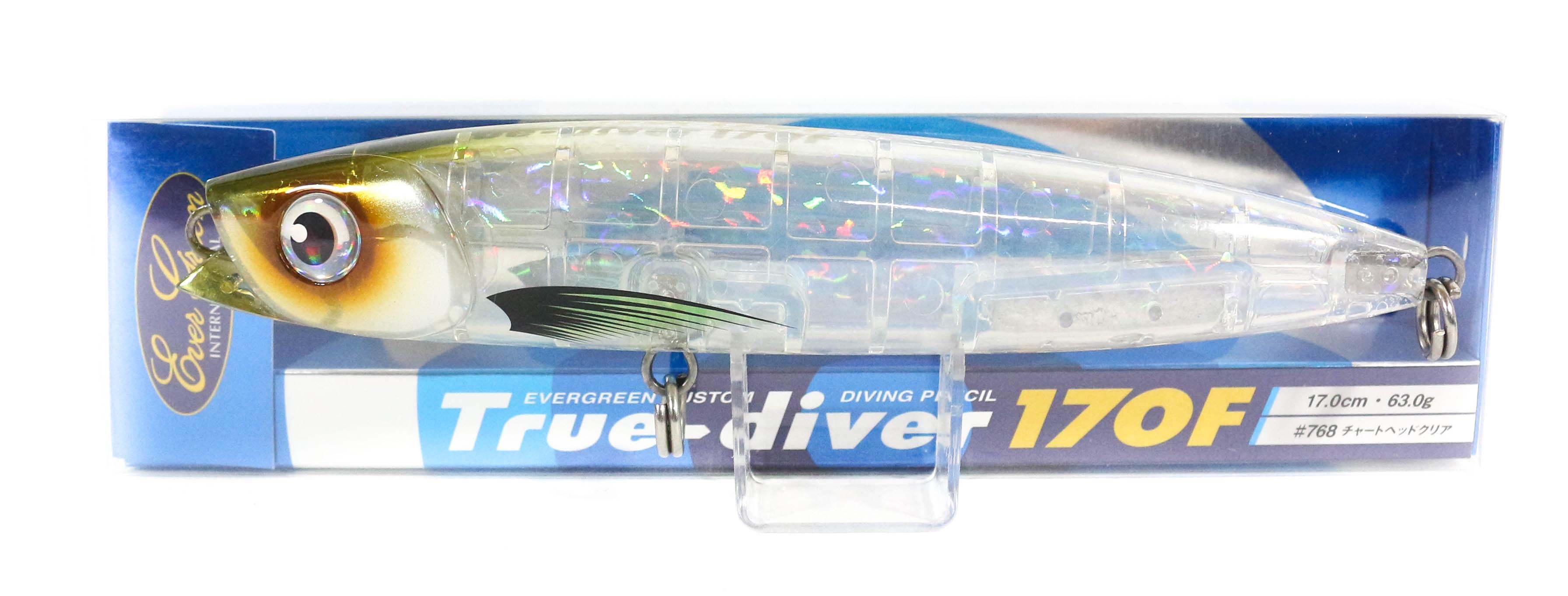 Sale Evergreen True Diver 170F Pencil 63 gram Floating Lure 768 (8207)