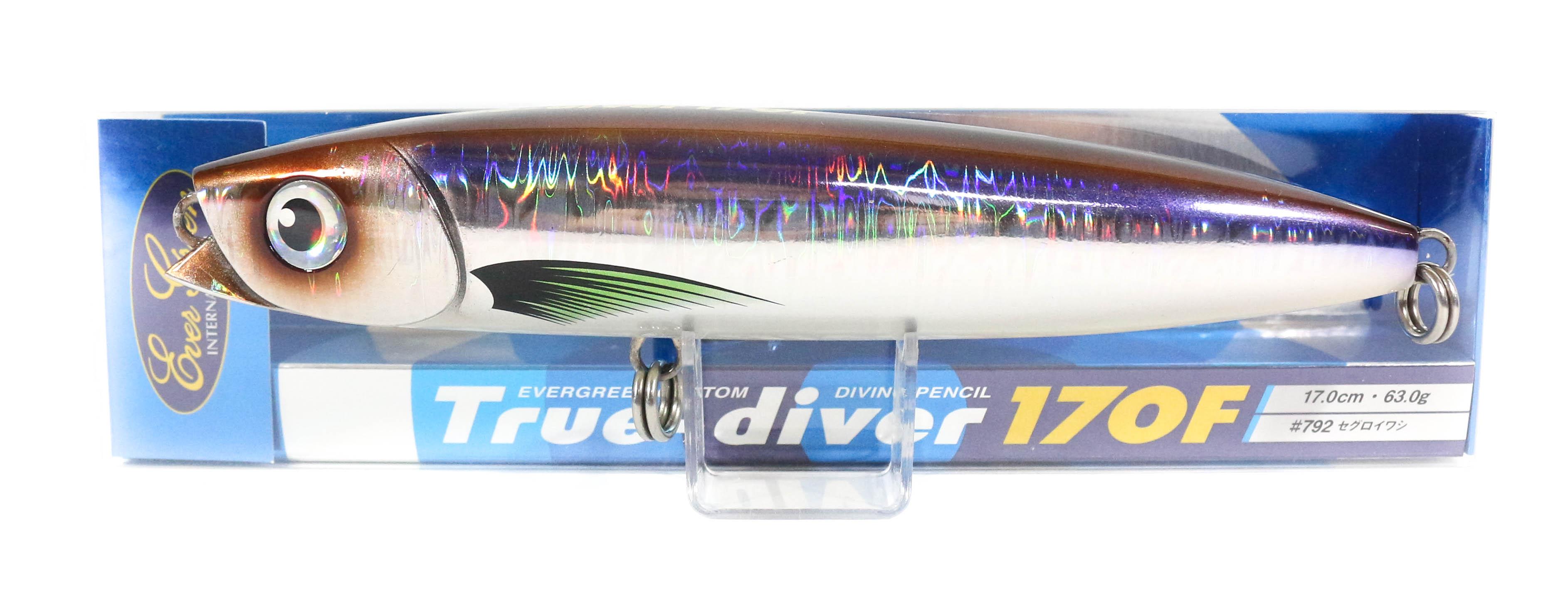 Sale Evergreen True Diver 170F Pencil 63 gram Floating Lure 792 (8214)