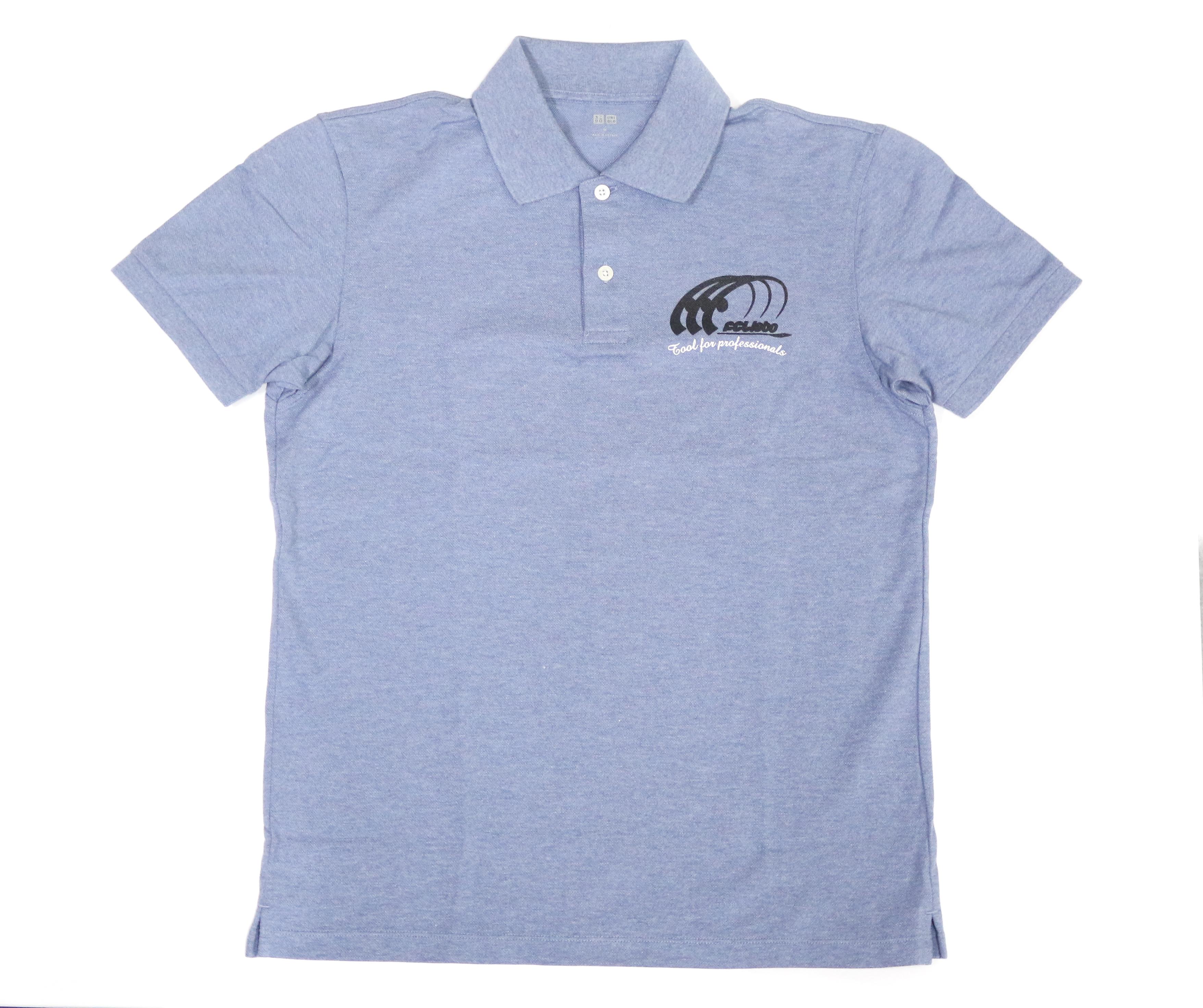 Sale FCL Labo Polo Shirt Short Sleeve Size XL Blue (blue)