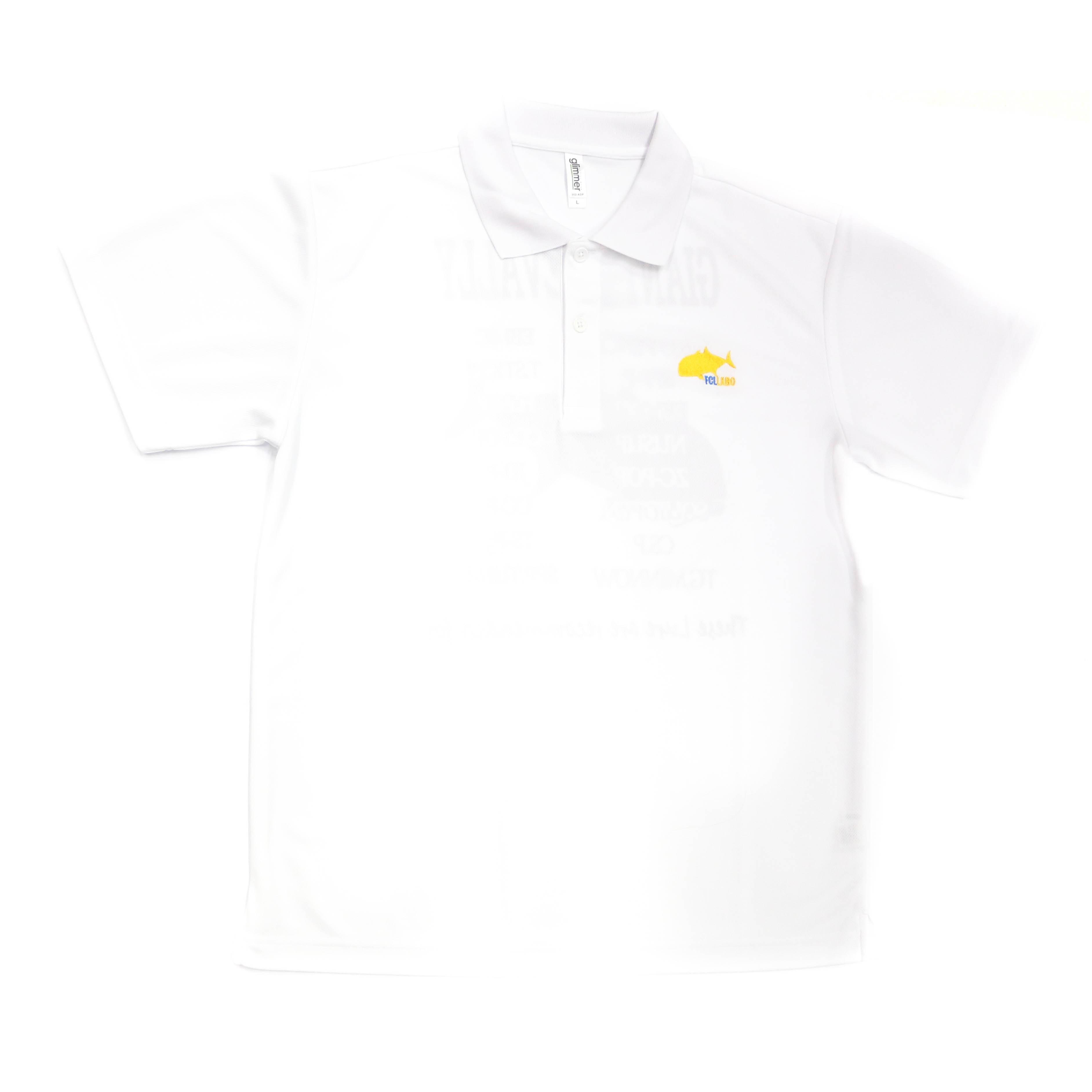 Sale FCL Labo Polo Shirt Short Sleeve GT Size L White (4533)