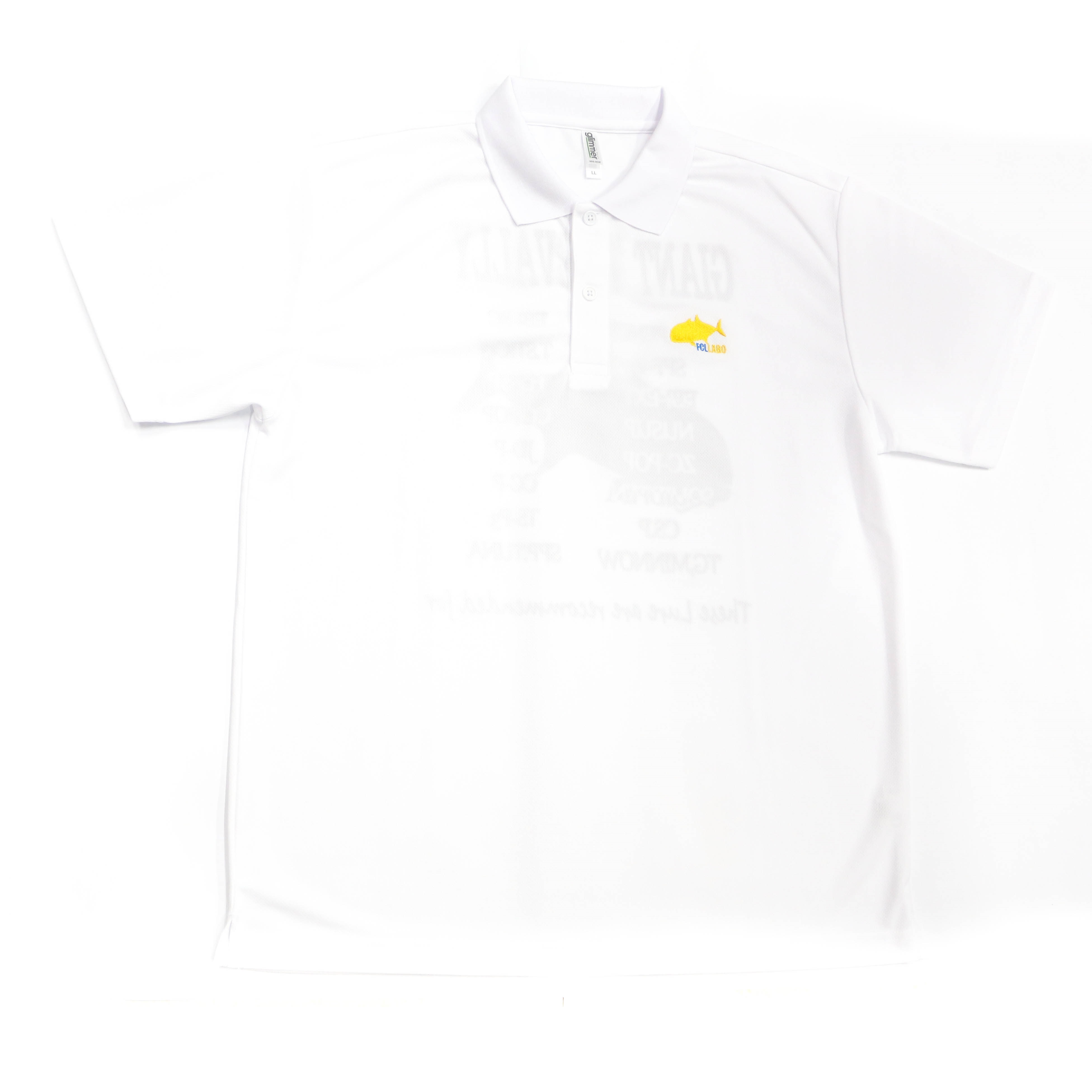 FCL Labo Polo Shirt Short Sleeve GT Size LL White (4540)
