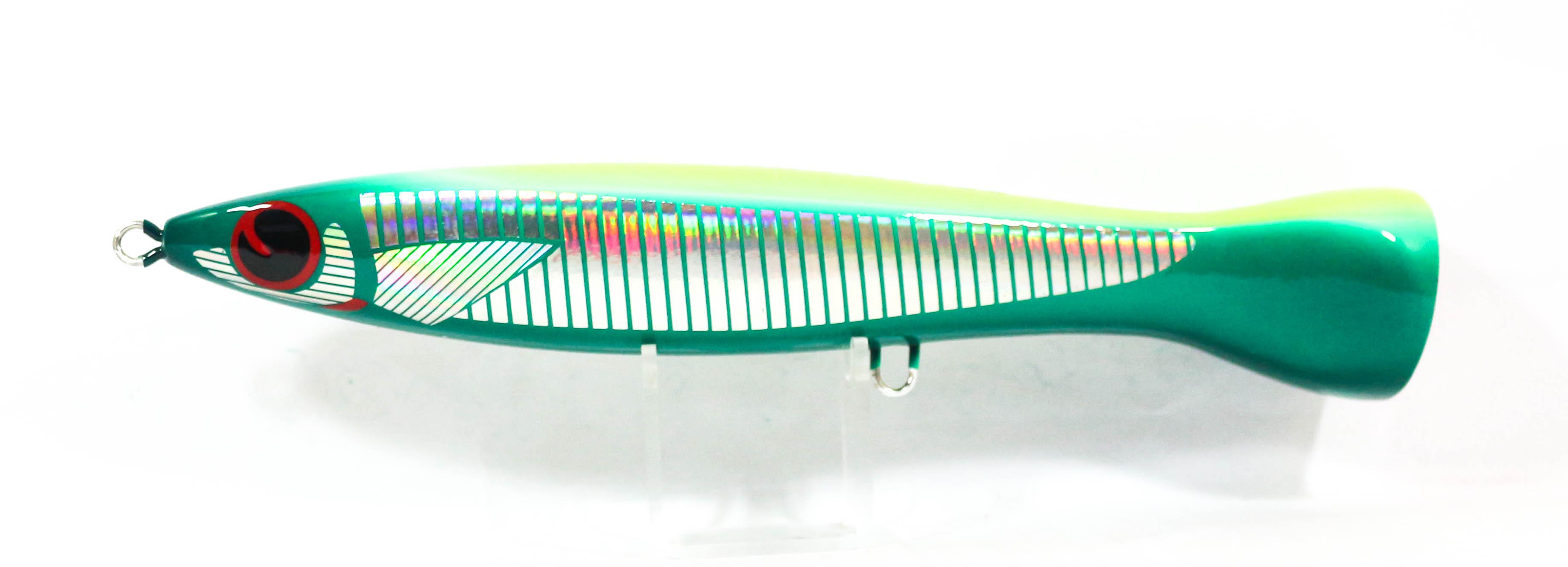 FCL Labo Popper Ebi Pop 140F Floating Lure 150 grams Green Chart (0503)