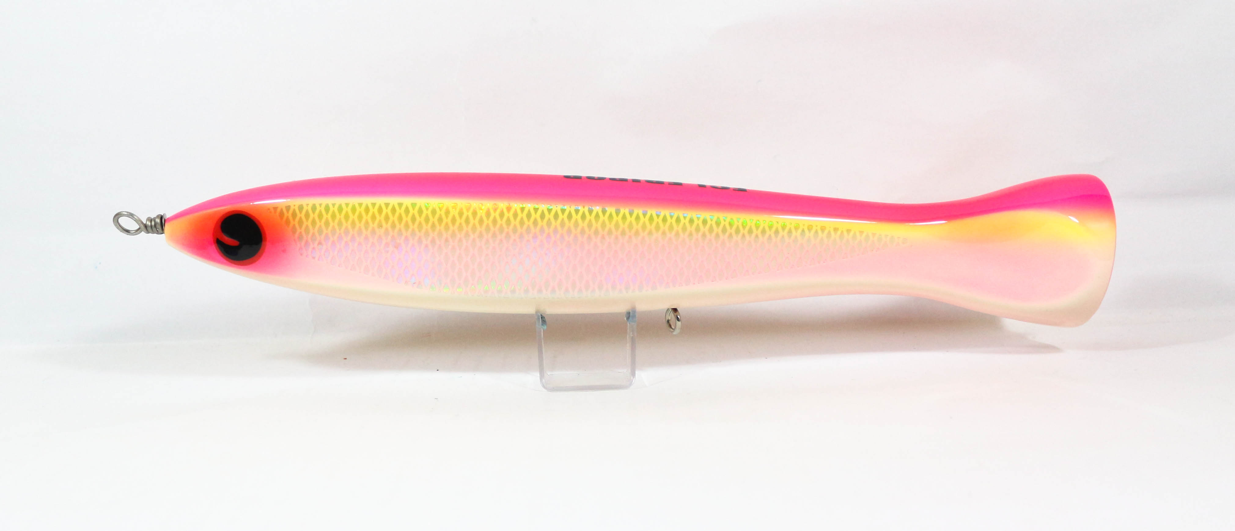 FCL Labo Popper Ebi Pop 200F Floating Lure 200 grams Pink Chart Scale (0069)