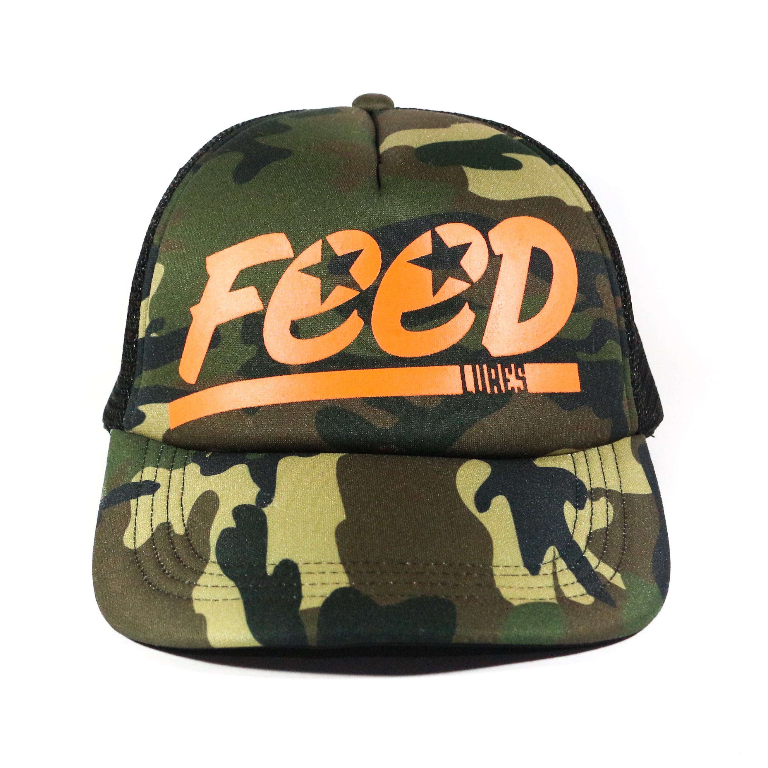 Feed Lures Cap Jungle Mesh Cap Free Size Brown Camo (0074)