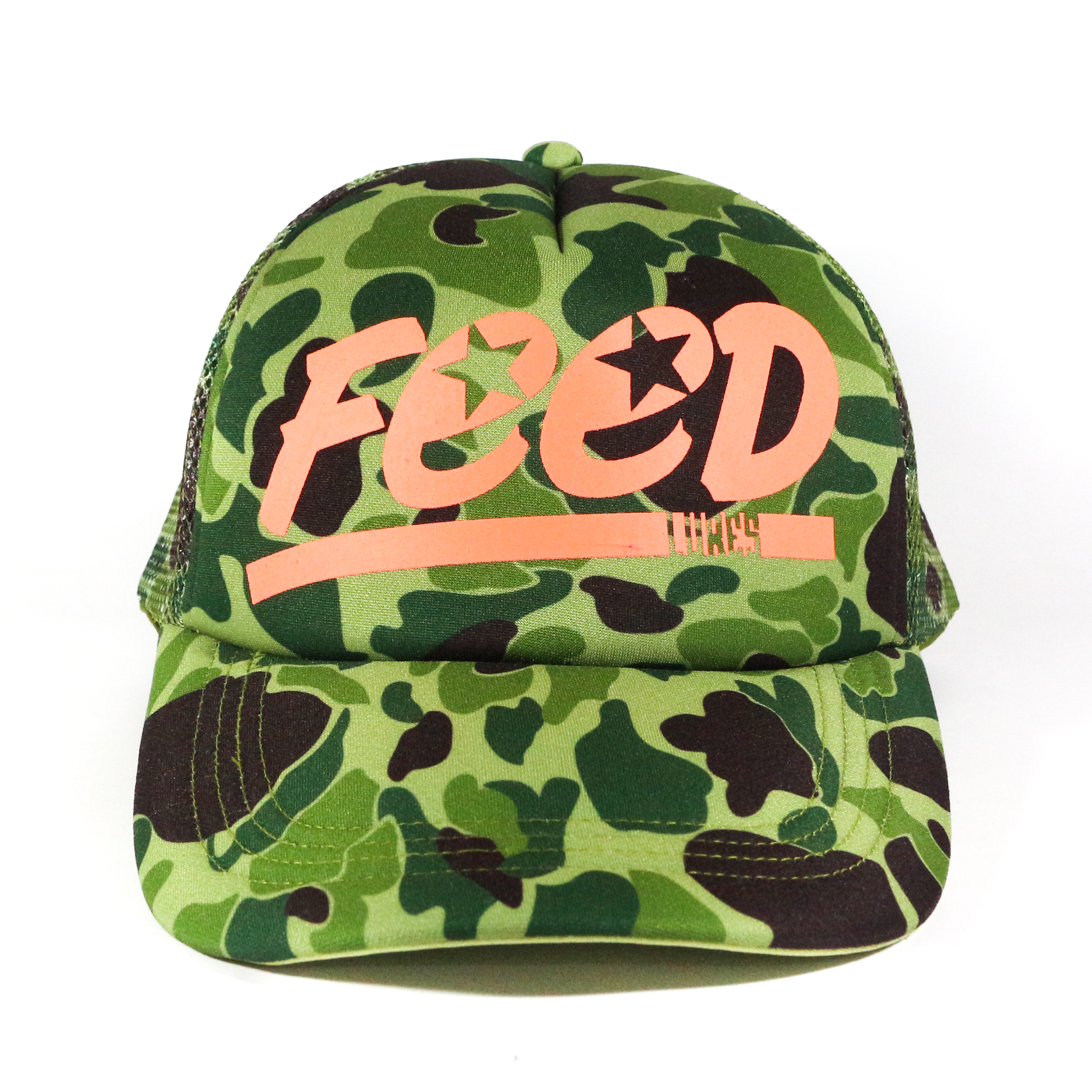 Feed Lures Cap Jungle Mesh Cap Free Size Green Camo (0075)