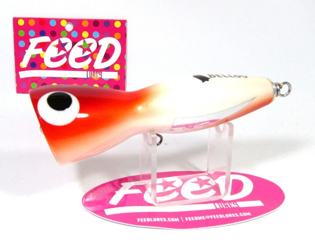 Feed Lures Bell 120 Hand Made Wood Popper Floating Lure 120 grams 58 (8058)