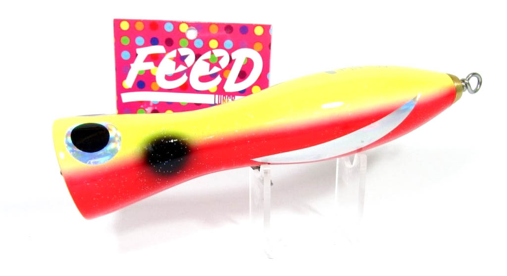Feed Lures Pin 40 Hand Made Wood Popper Floating Lure 40 grams 17 (9017)