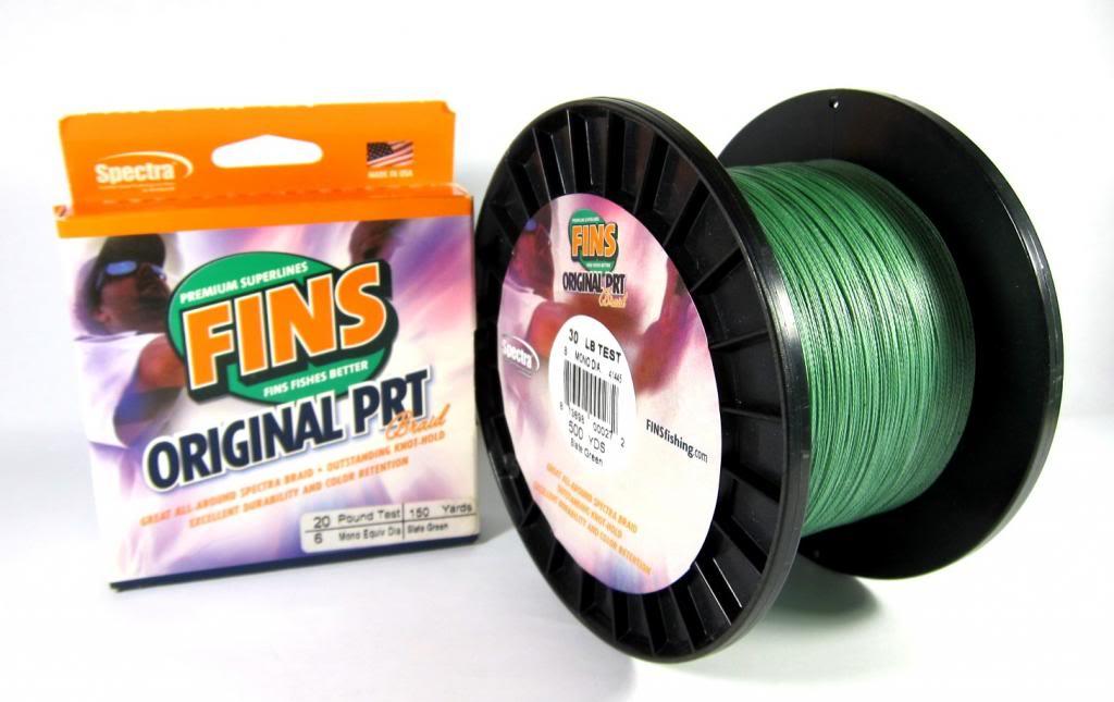 Sale Fins PRT Braided Spectra Line 7lb 150yds Green (4089)