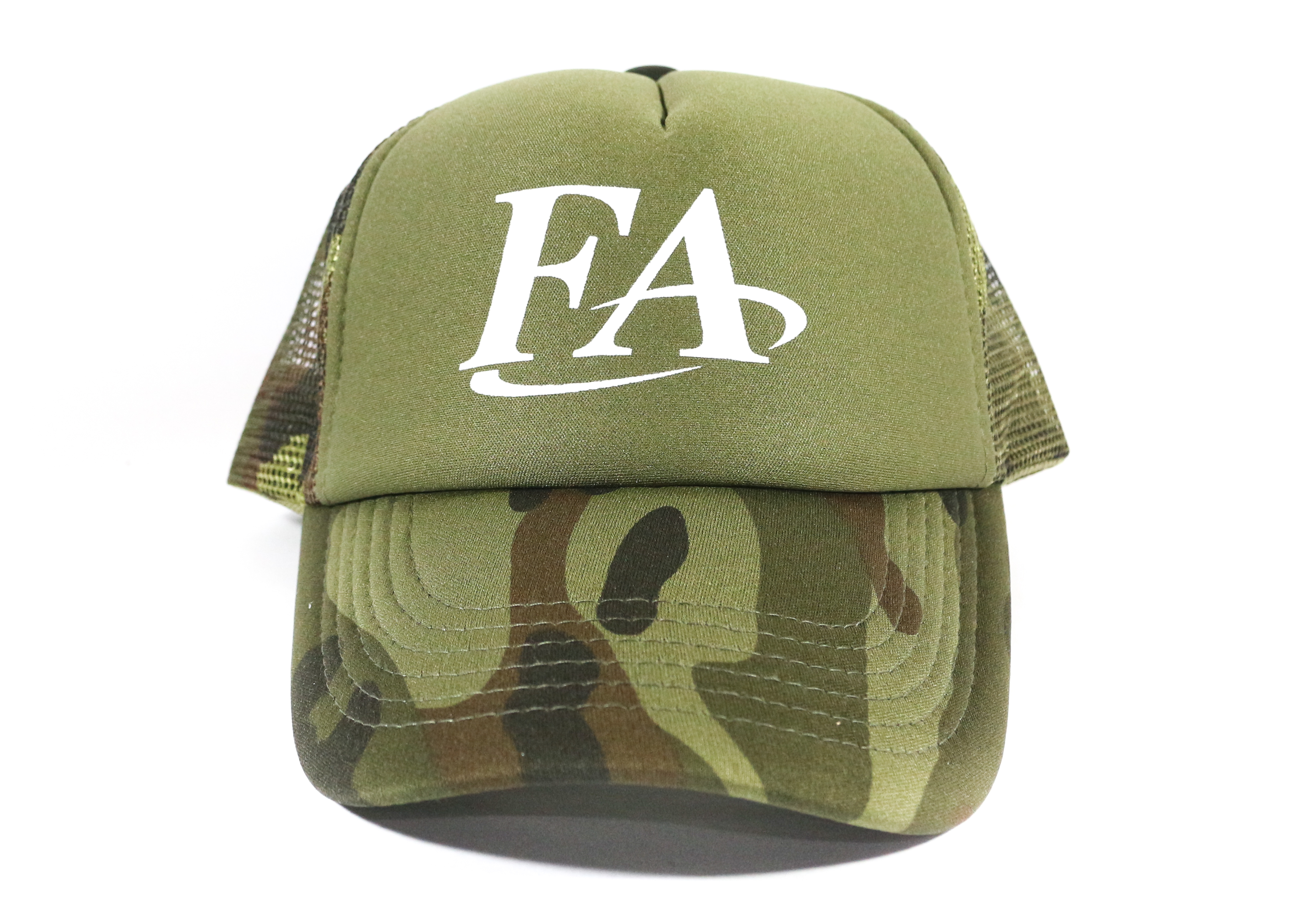 Fish Arrow Cap Mesh FA Logo Green/White (7774)