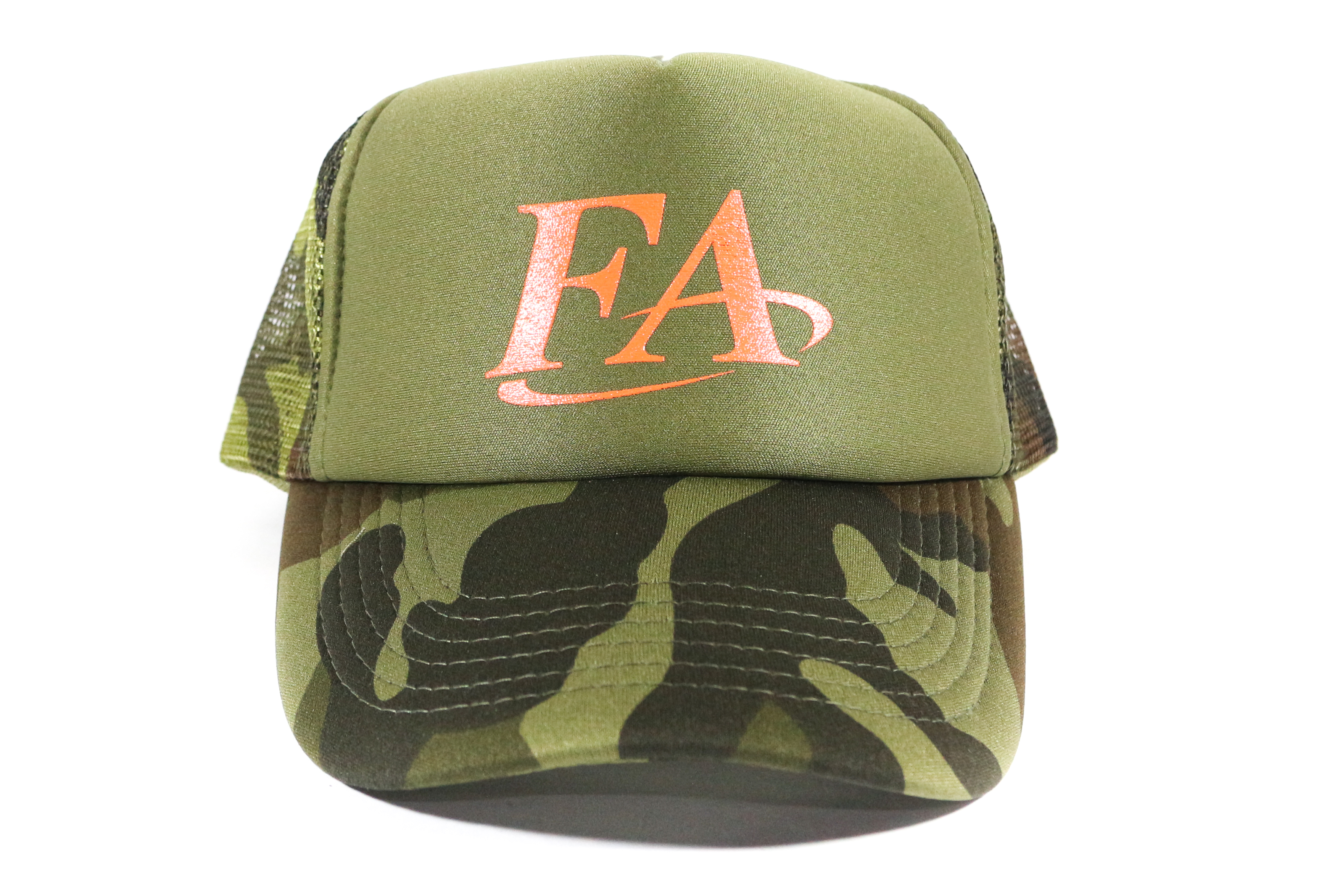 Fish Arrow Cap Mesh FA Logo Green/Orange (7781)
