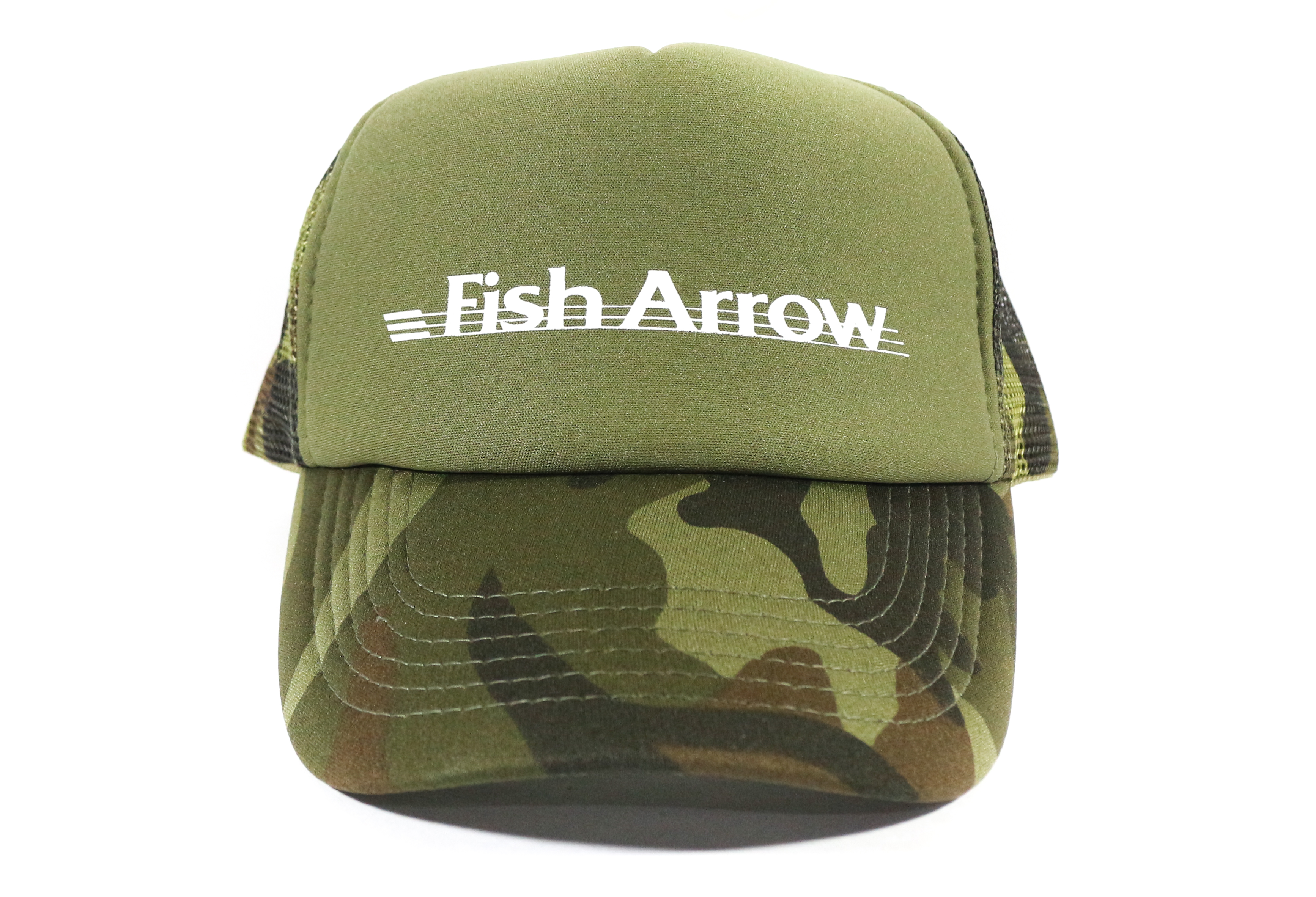 Fish Arrow Cap Mesh Fish Arrow Design Green/White (7811)