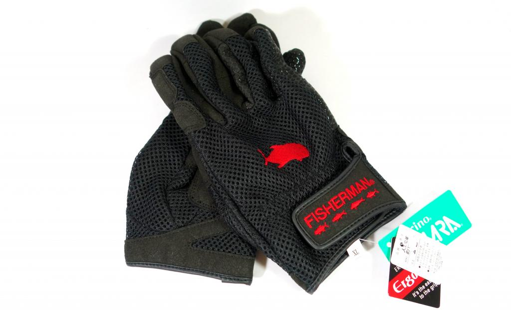 Fisherman Gloves 3D High Grip Black Size L (0401)