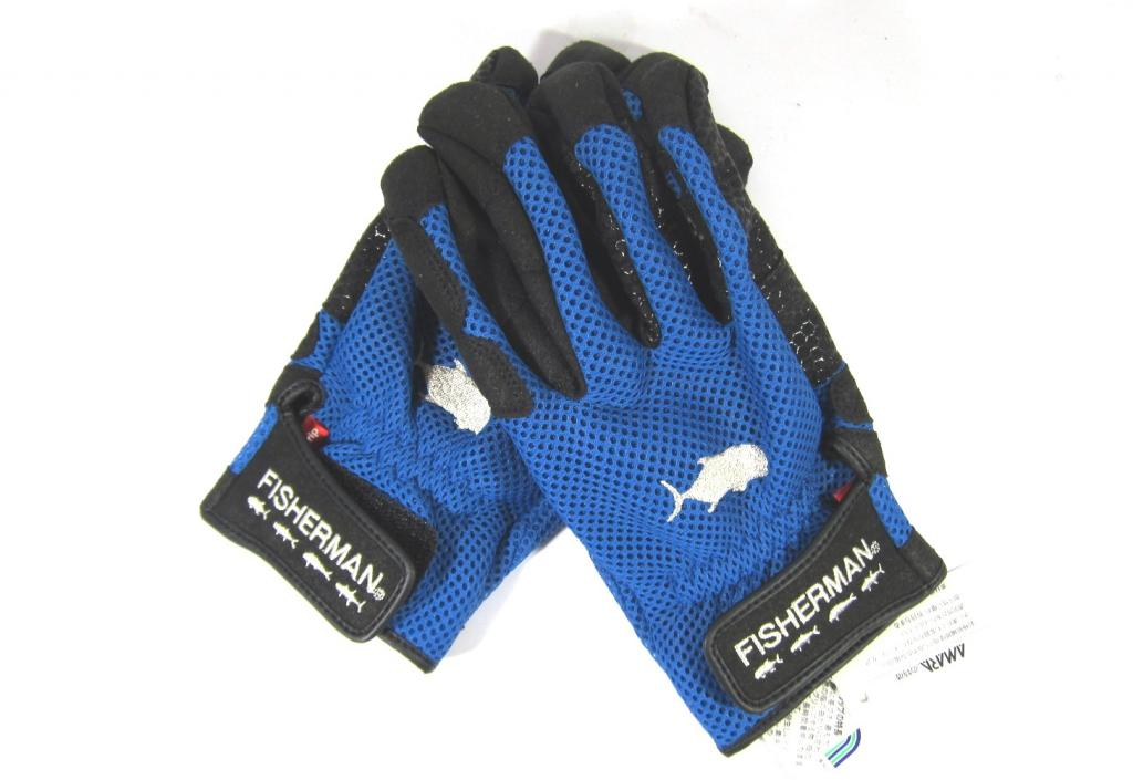 Fisherman Gloves 3D High Grip Blue Size L (0972)