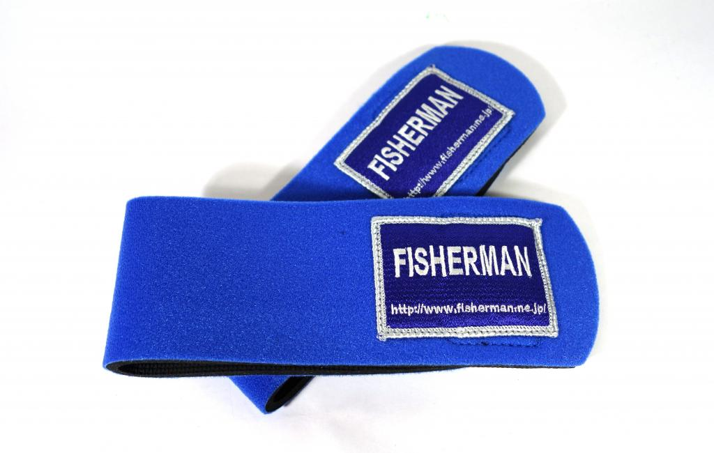 Fisherman Rod Belt Straps Big Game Blue (0368)