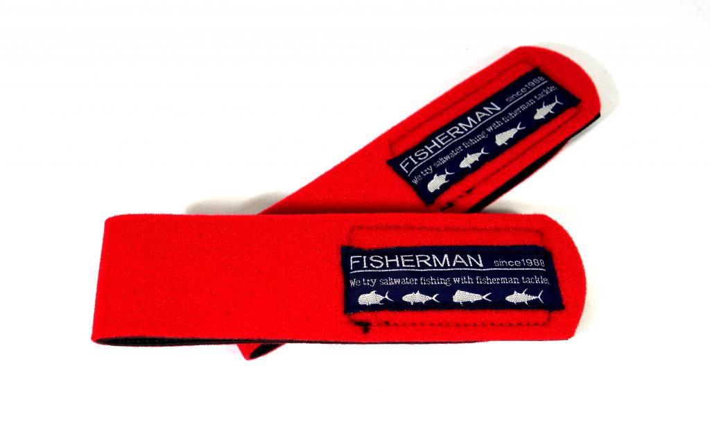 Fisherman Rod Belt Straps Light Game Red (0369)