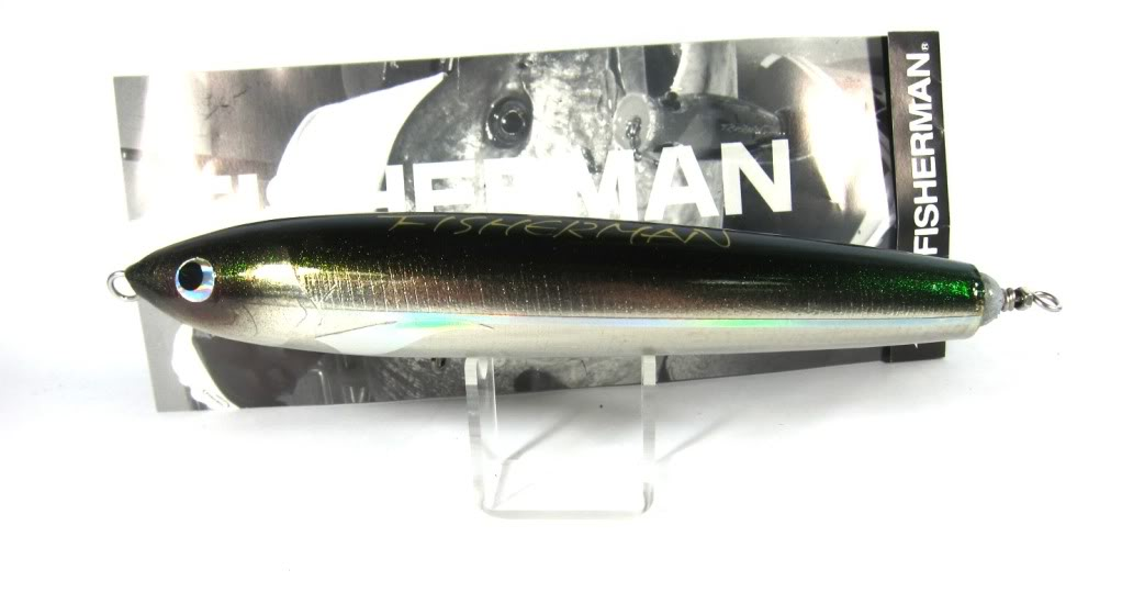 Sale Fisherman Delta Wood Sliding Pencil Floating Lure 80 grams Black (0012)